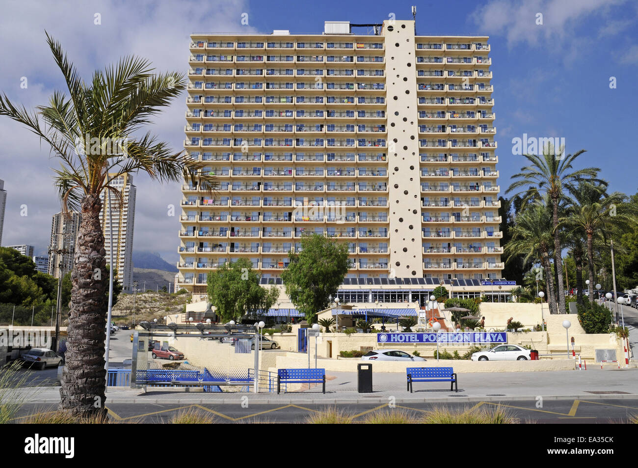 Hotel poseidon playa benidorm spain stock photo royalty for Hotel poseidon playa