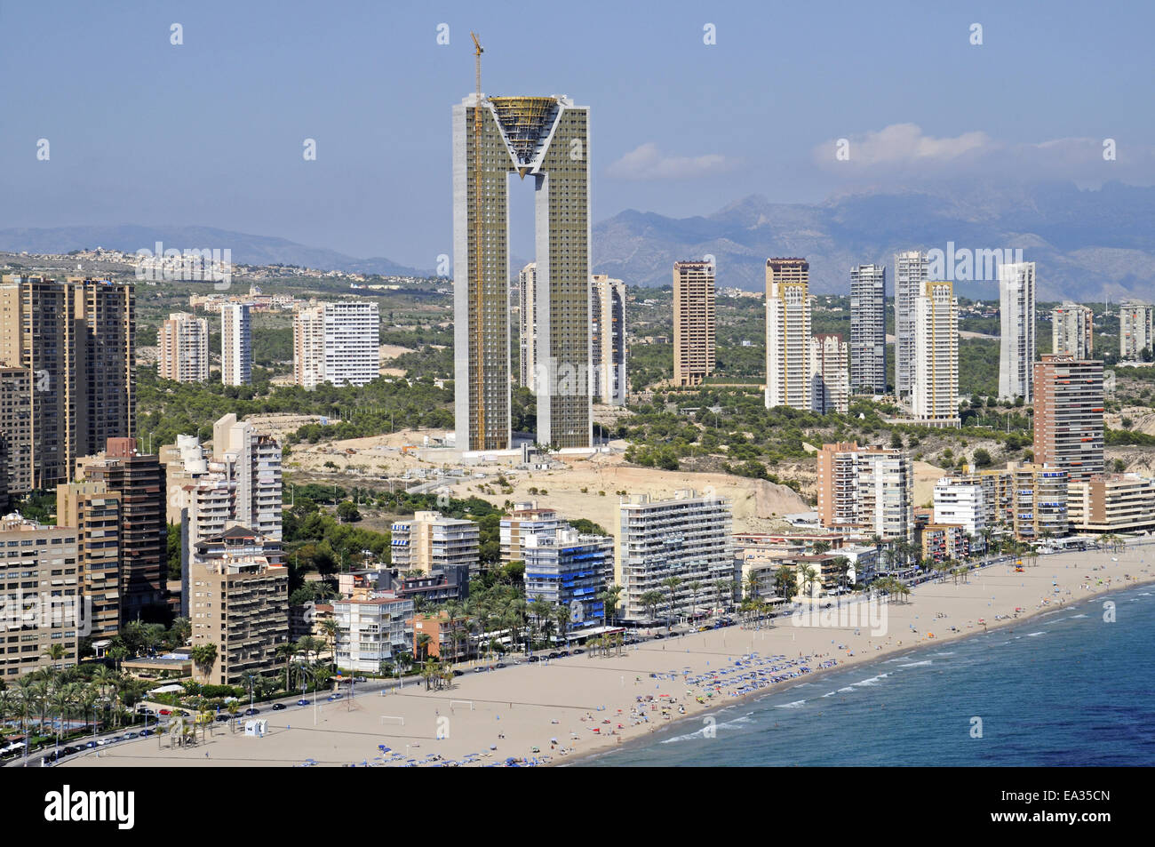 intempo skyscraper benidorm spain stock photo royalty. Black Bedroom Furniture Sets. Home Design Ideas