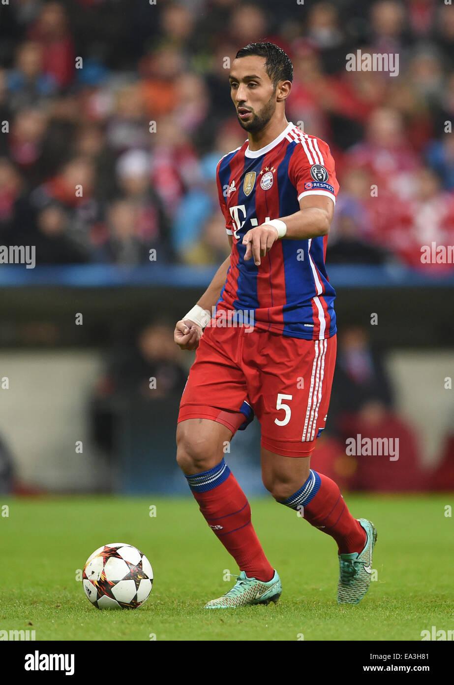 Munich Germany 05th Nov 2014 Munich s Mehdi Benatia in action