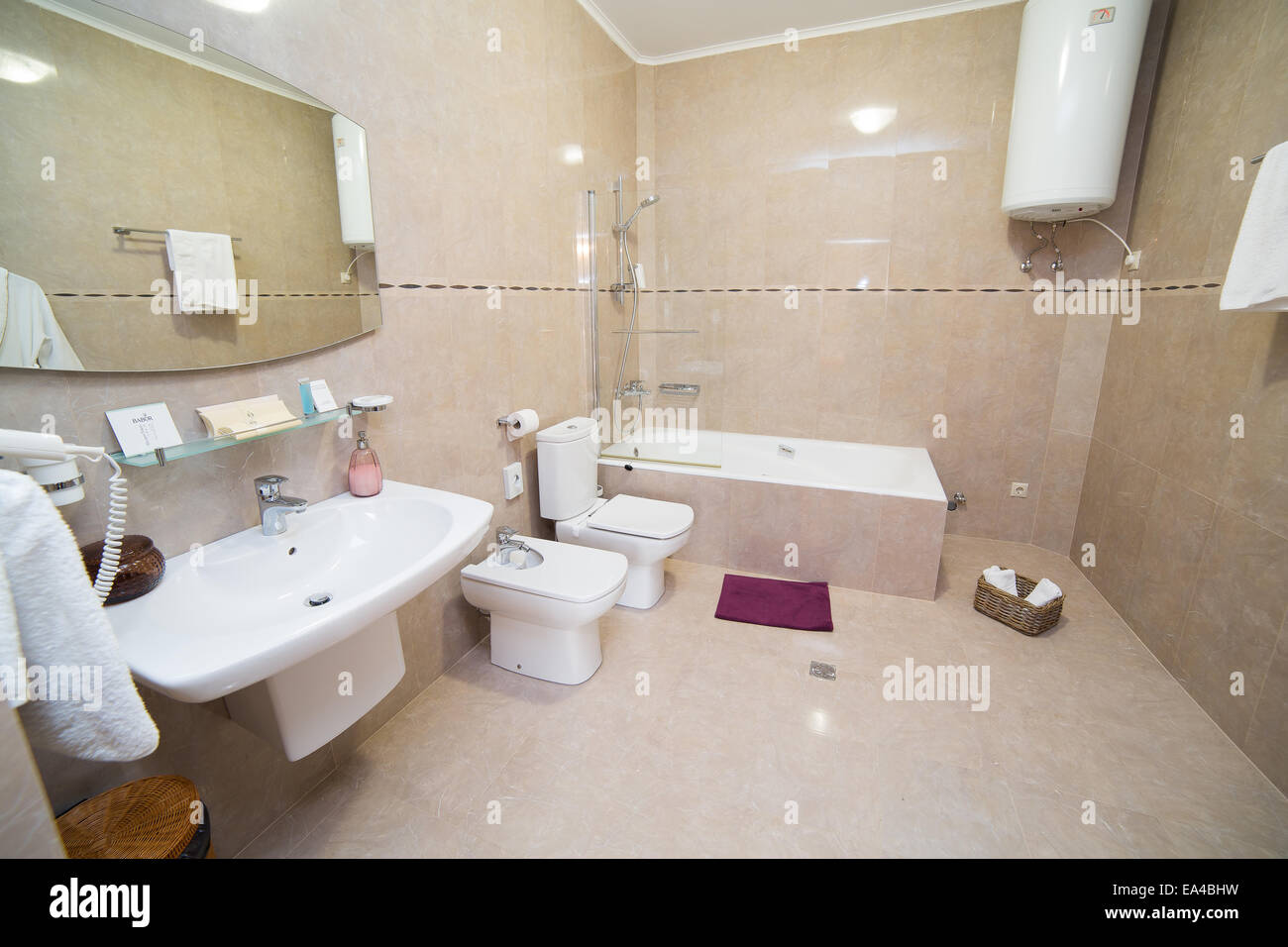 Bathroom Wc Toilet Lavatory Room Interior Design Stock
