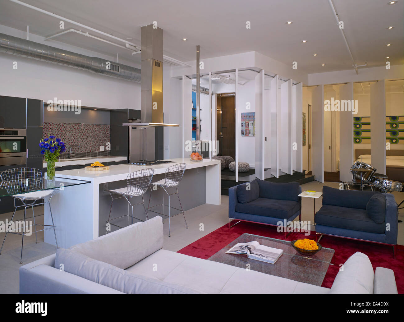 Great Open Plan Studio Apartment On Broadway, Hollywood, Los Angeles, California,  USA.