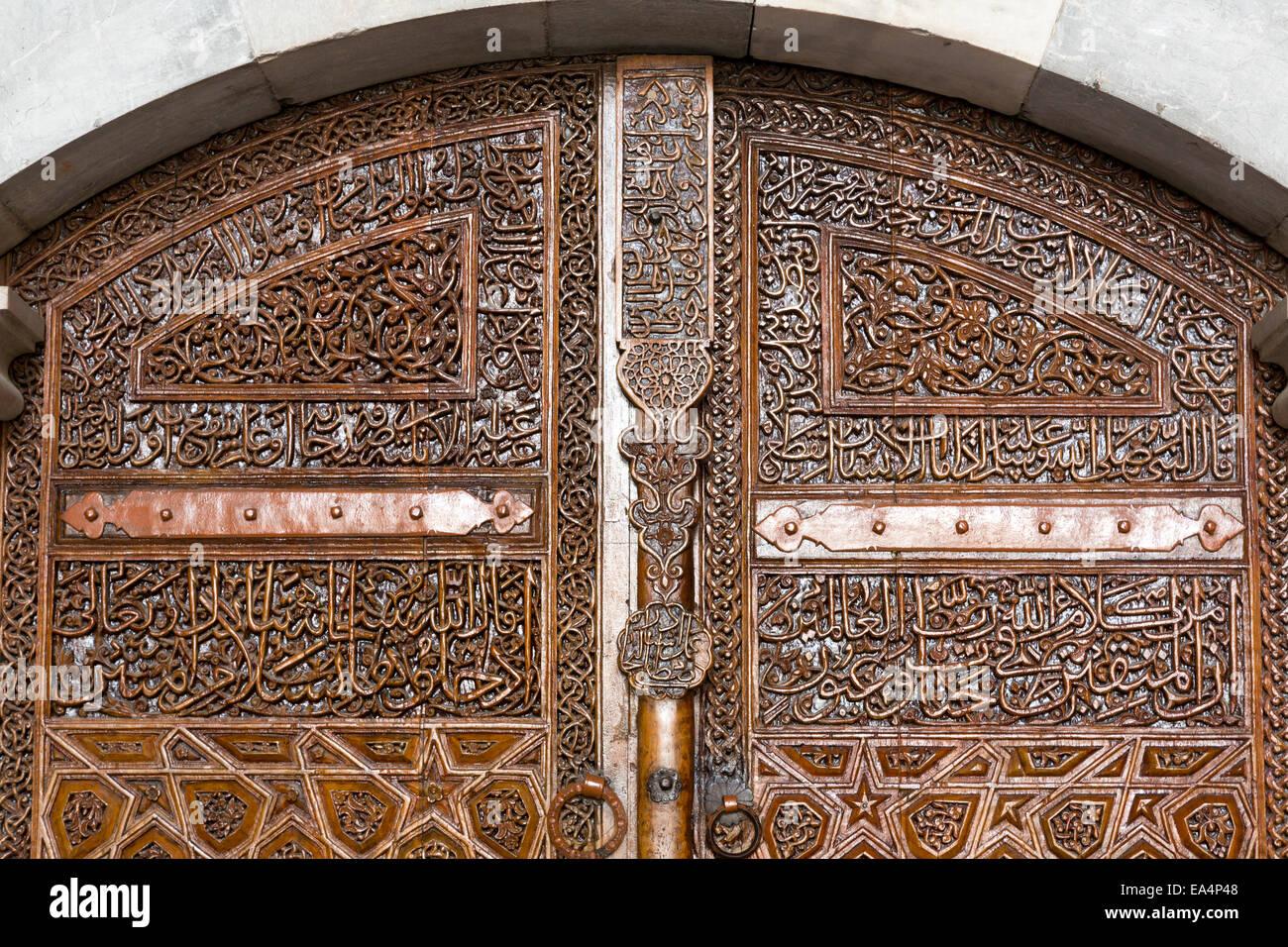Detail Of Door Of Bayezid Pasha Mosque Amasya Turkey - Stock Image & Islamic Doorways u0026 Islamic Wooden Door - Stock Image pezcame.com