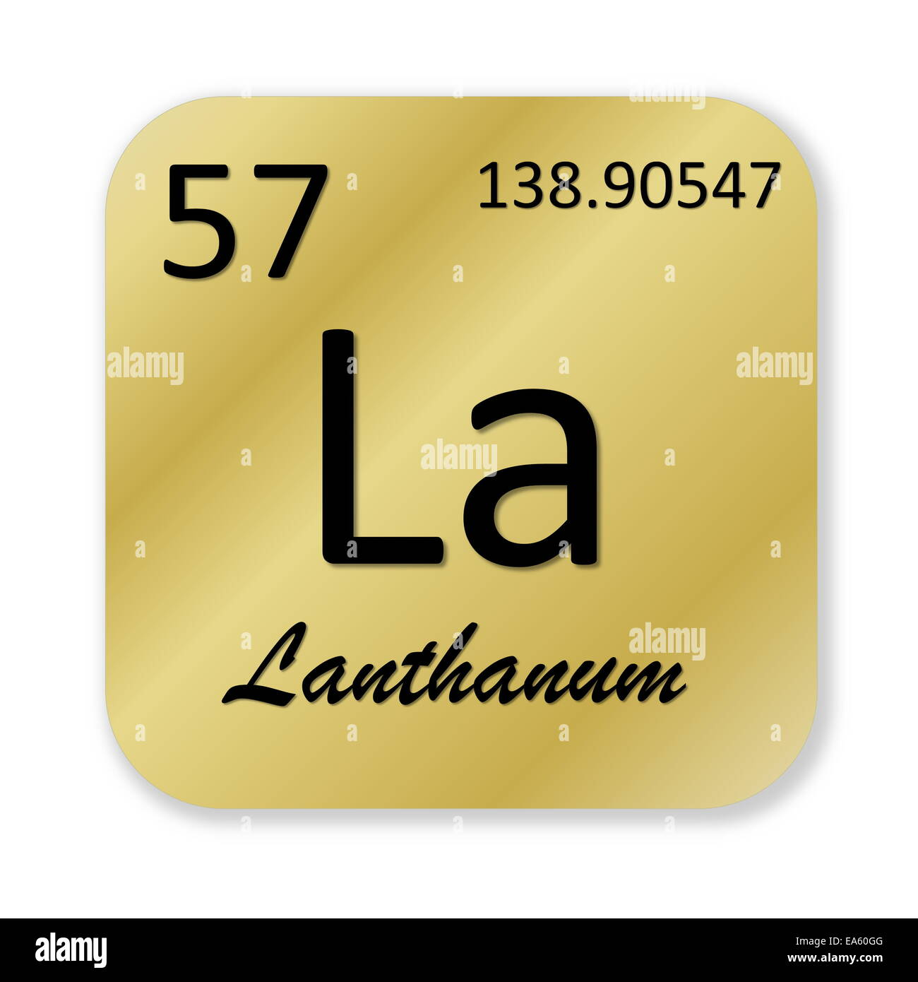 Lanthanum element stock photo royalty free image 75120208 alamy lanthanum element gamestrikefo Image collections