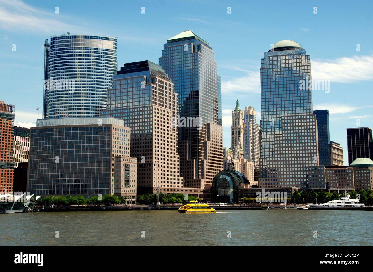 nyc the modern towers of the world financial center and the
