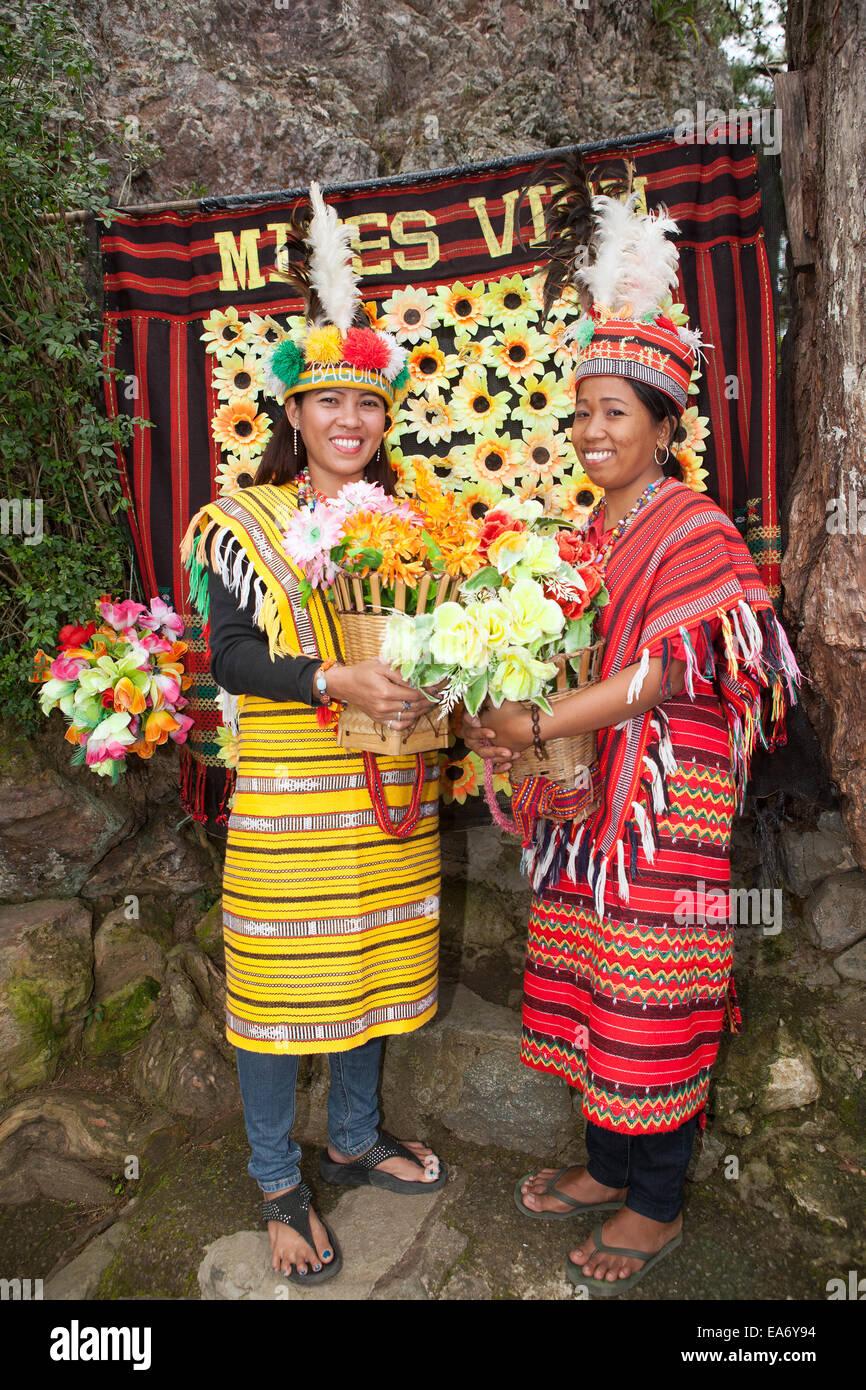 Two beautiful Filipina women dress in traditional Ifugao ...
