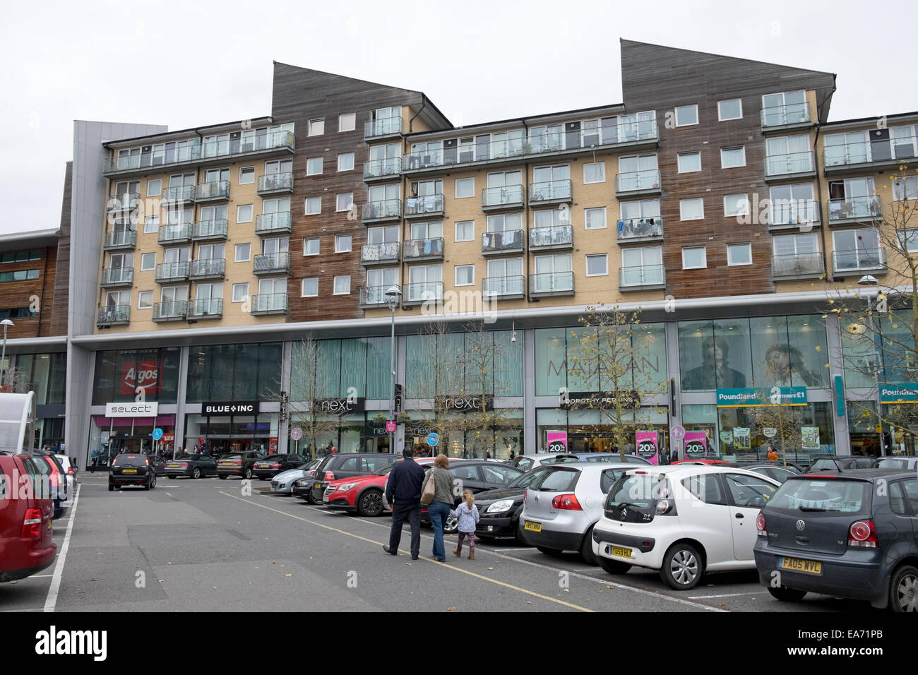 residential apartments above shops in the centre feltham