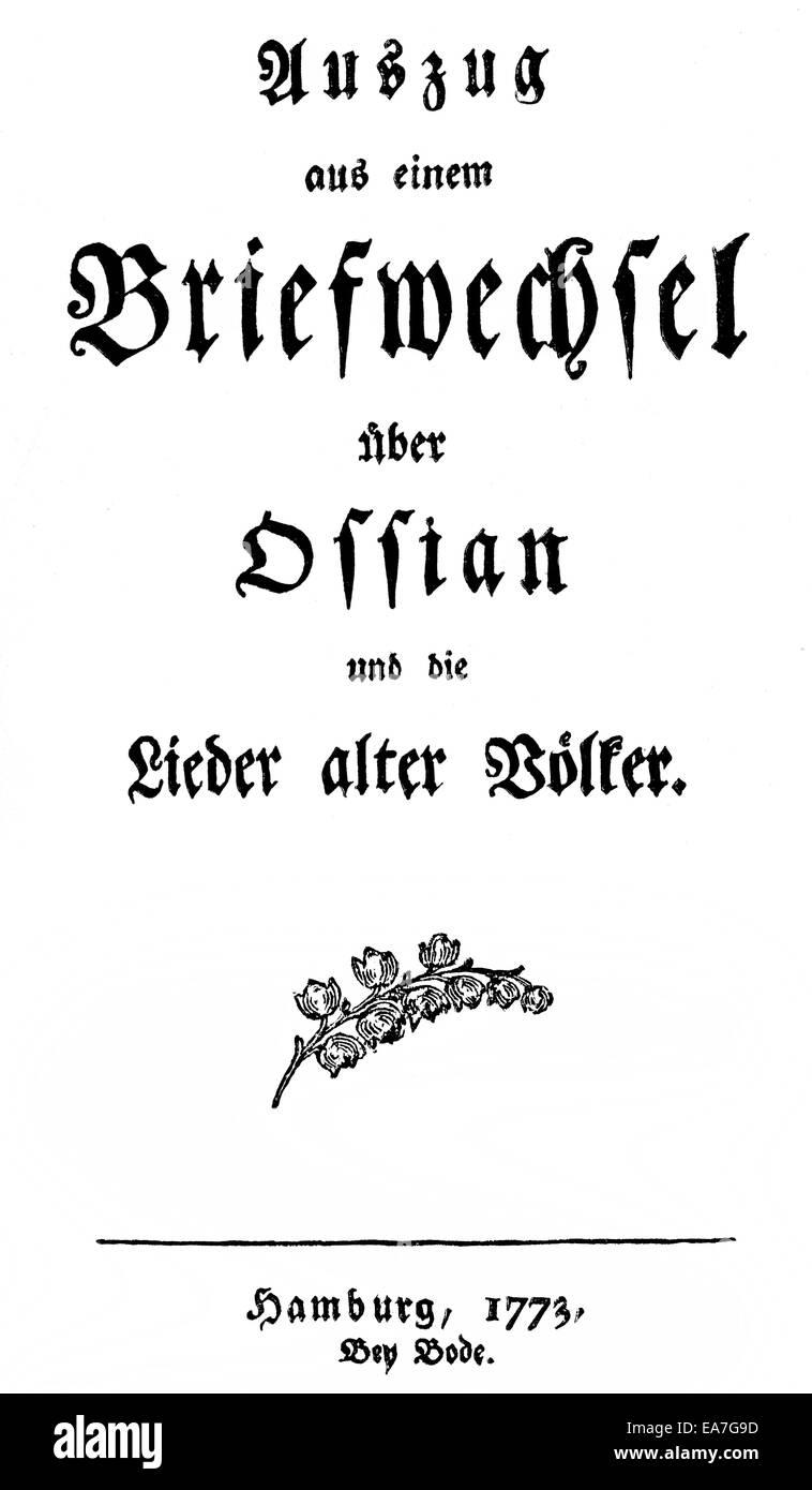 Johann Gottfried Herder lieder