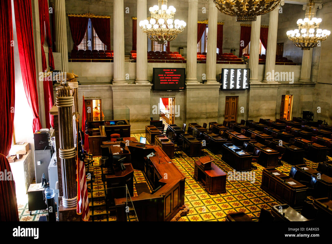 The House Of Representatives Chamber Inside Tennessee State