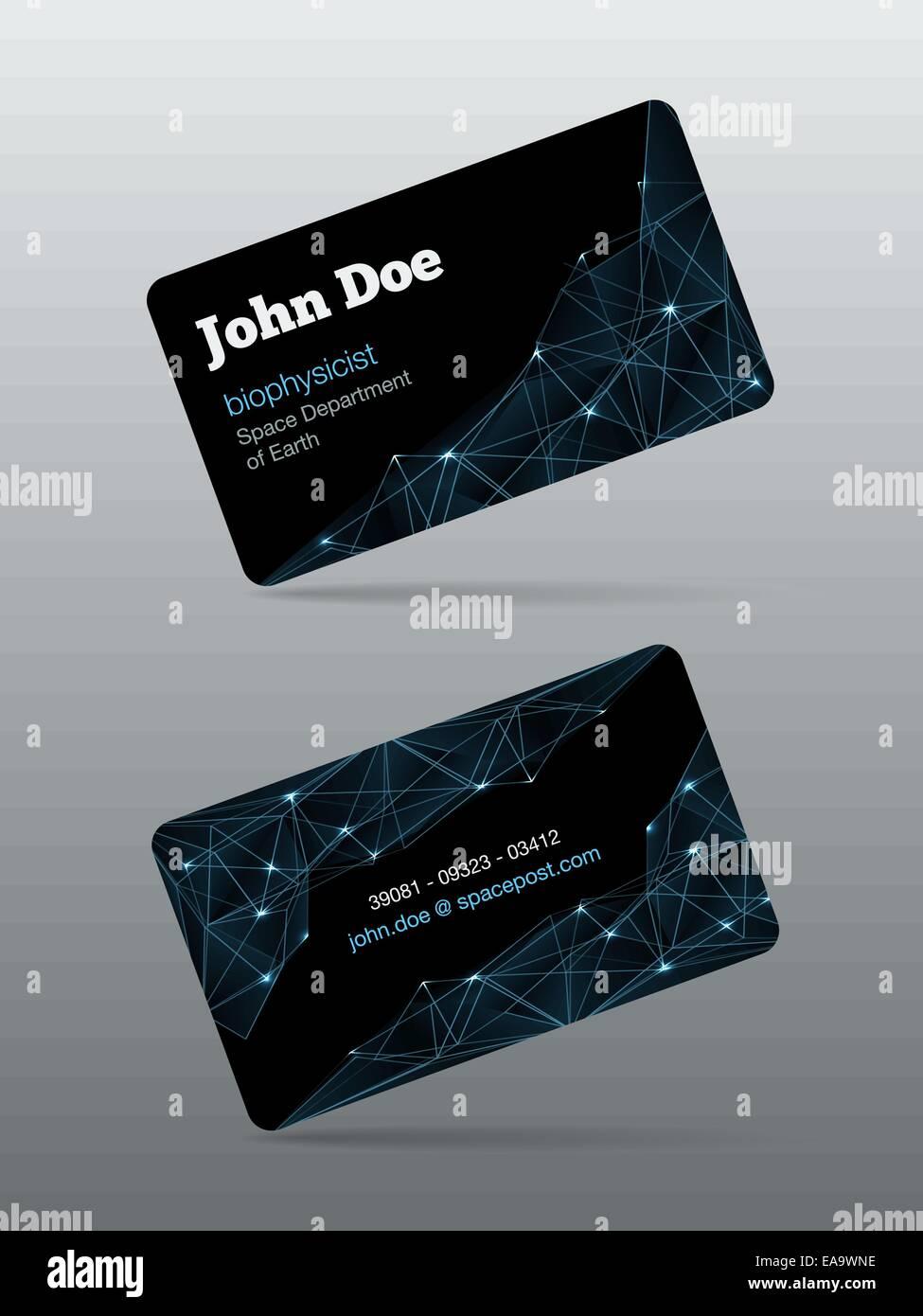 Futuristic business card template vector illustration Stock Vector ...