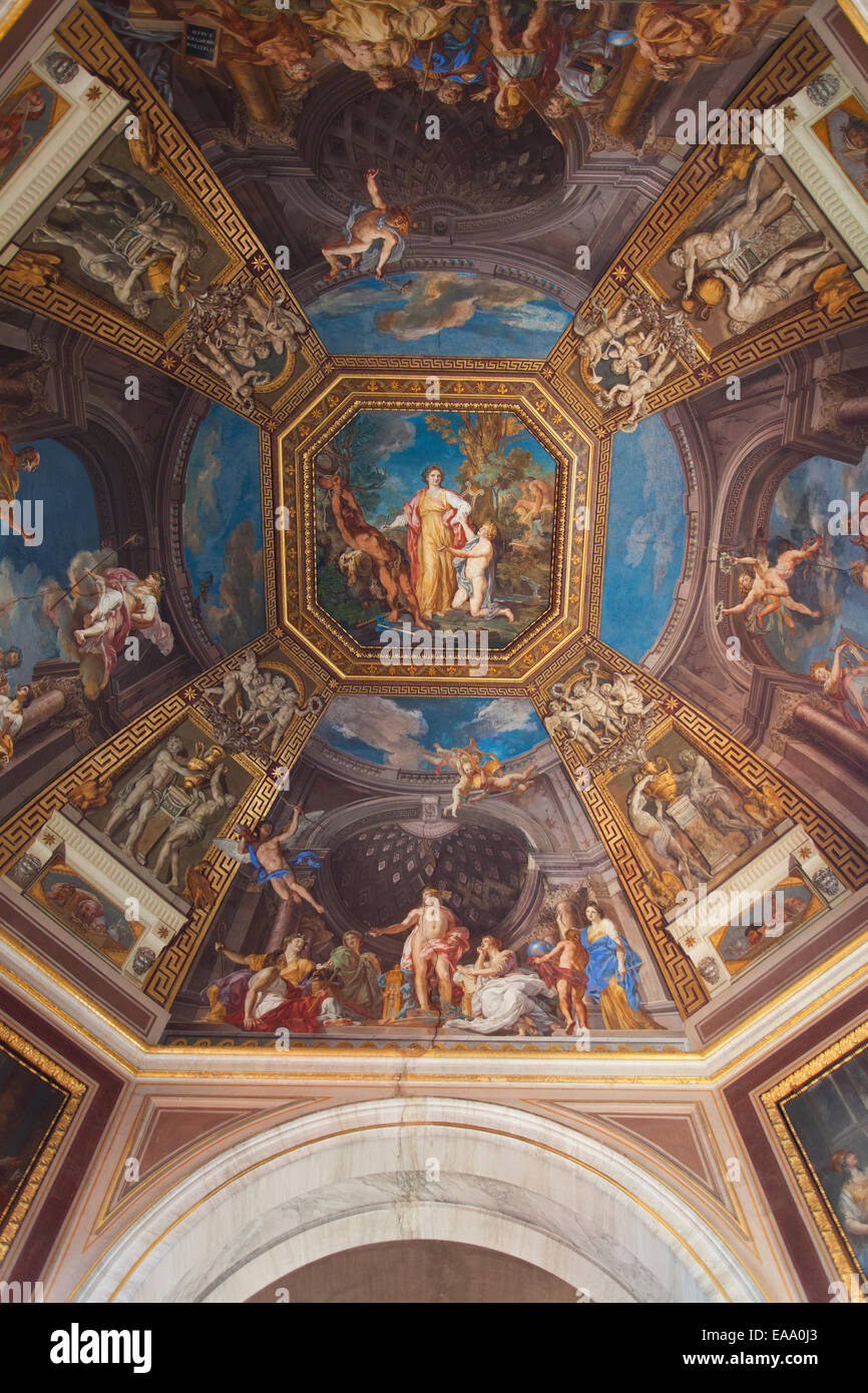 Ceiling Of Hall Of The Muses Inside Vatican Museum (UNESCO