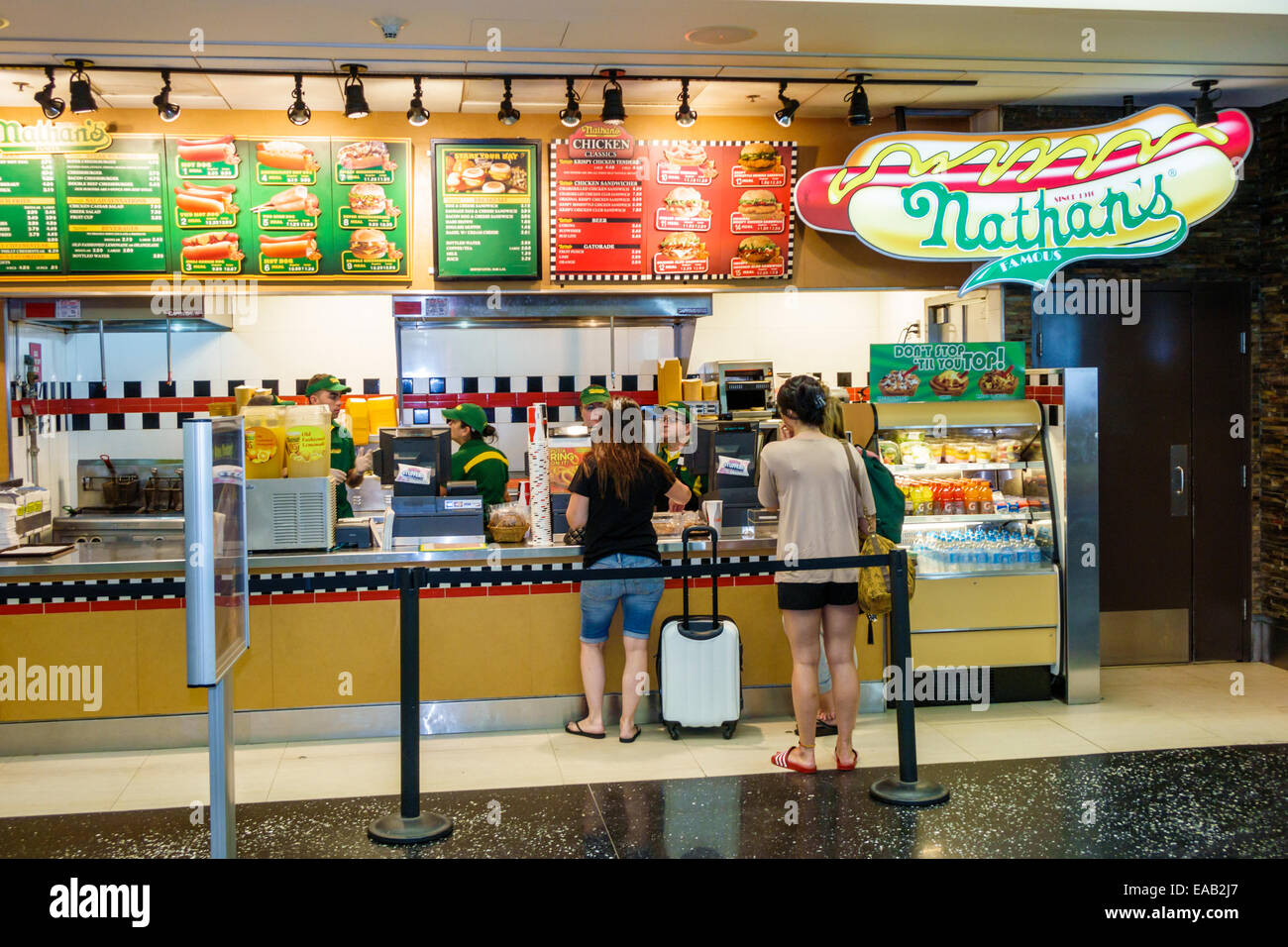 Nathan S Hot Dogs Miami Airport
