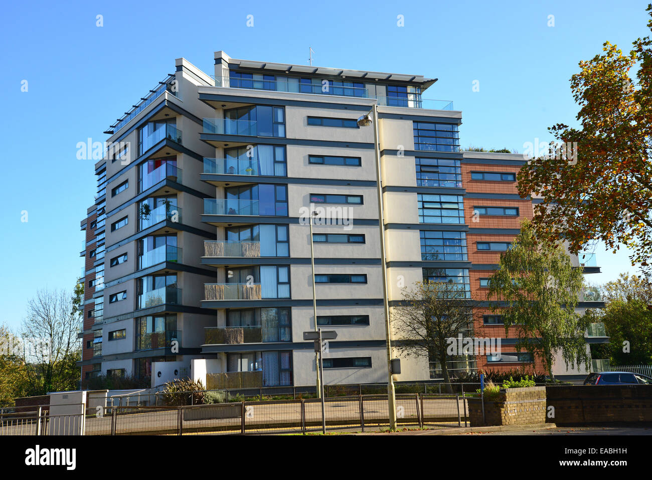 Modern Apartment Building, Beechen Grove, Watford, Hertfordshire, England,  United Kingdom