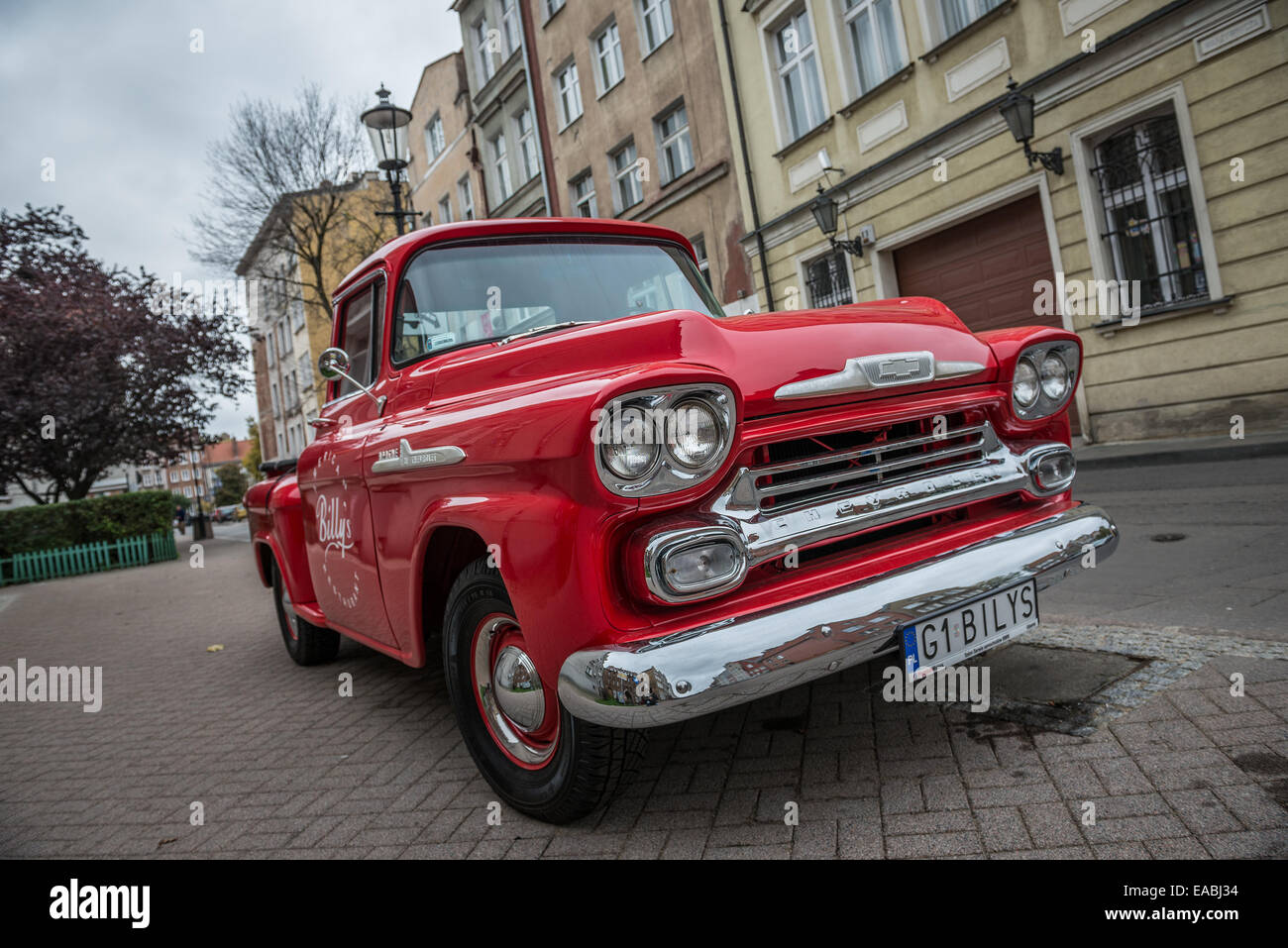 Chevrolet apache pick up from american restaurant billy s on old town i gdansk poland