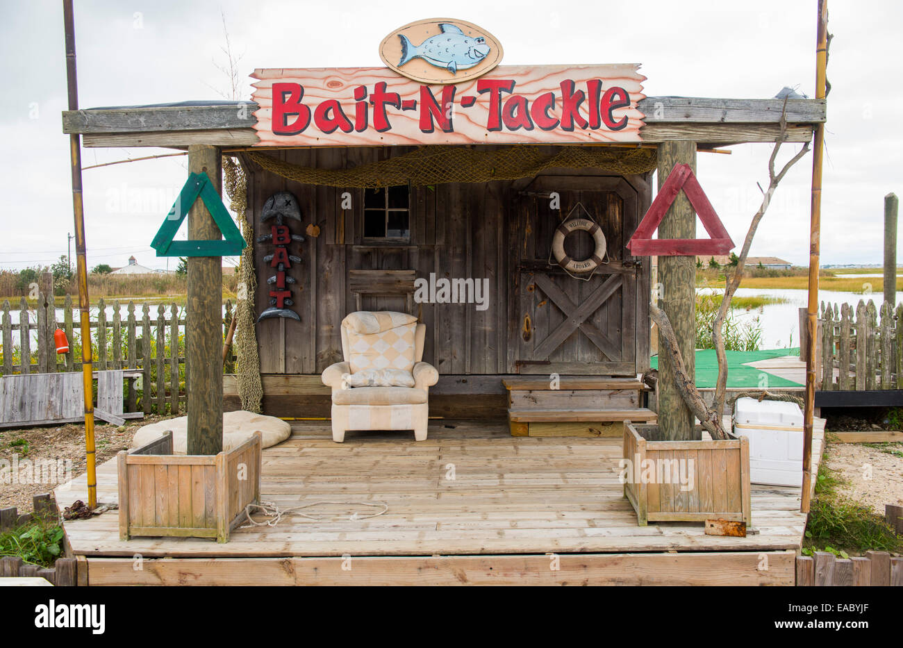 Waterfront bait and tackle shop near ocean city new for Fishing stores nj