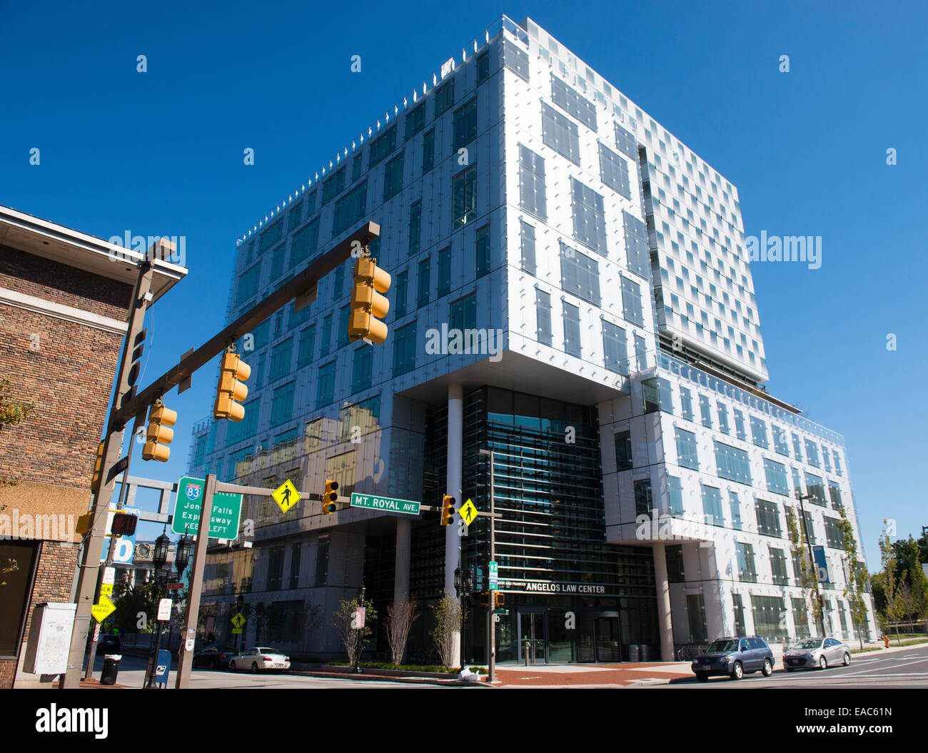 Modern Architecture Usa modern architecture in downtown baltimore city, maryland usa stock