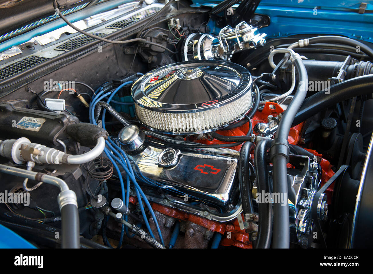 Under the hood of a classic car at the Fells Point Fun Festival ...