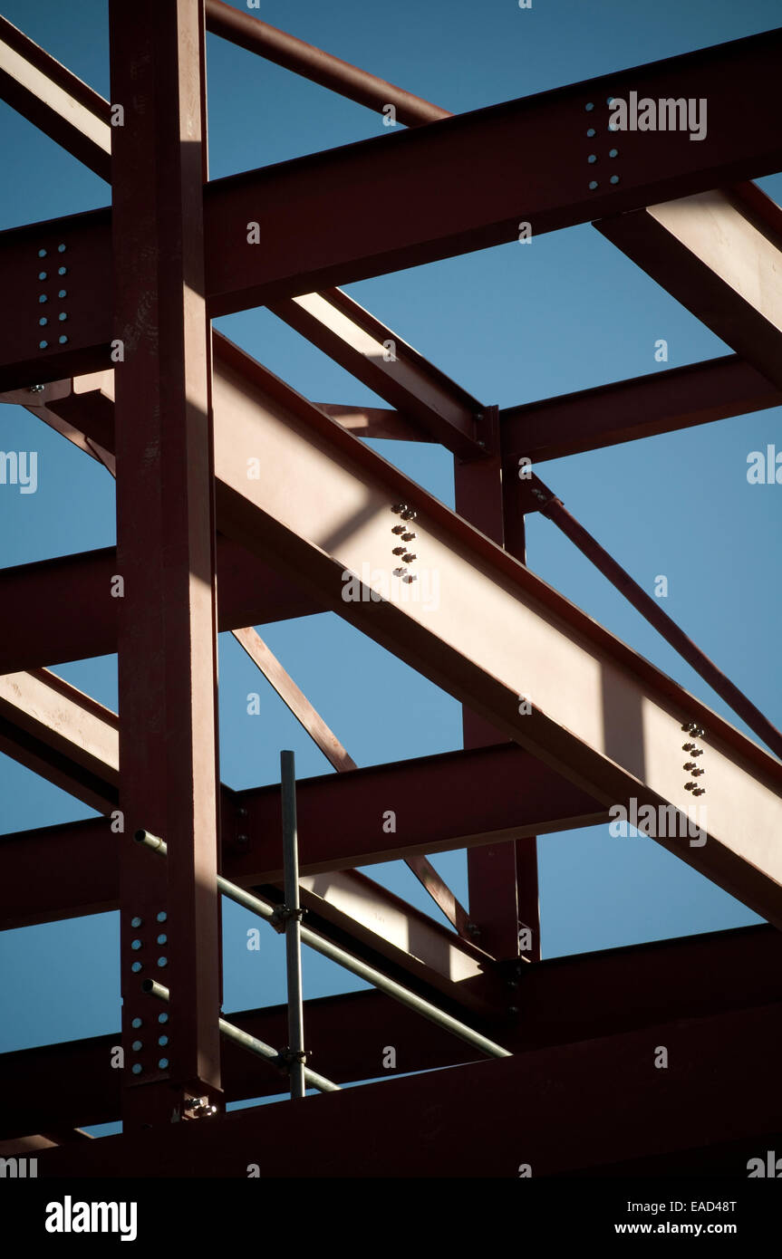 Building Frame Bolt : Steel framed building buildings bolt bolts bolted together