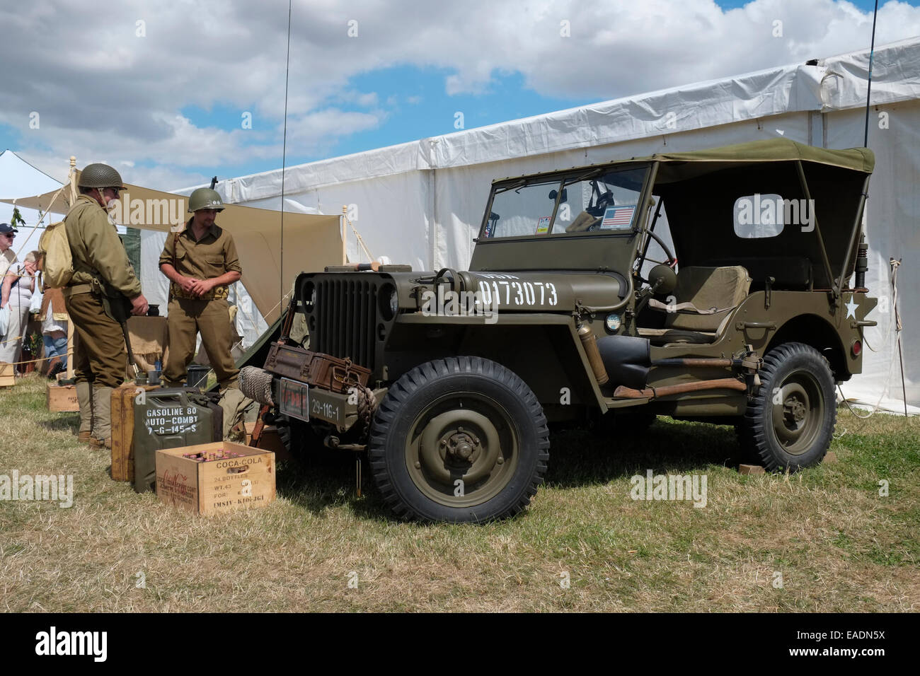 A 1943 willys mb jeep at the heckington show lincolnshire england stock