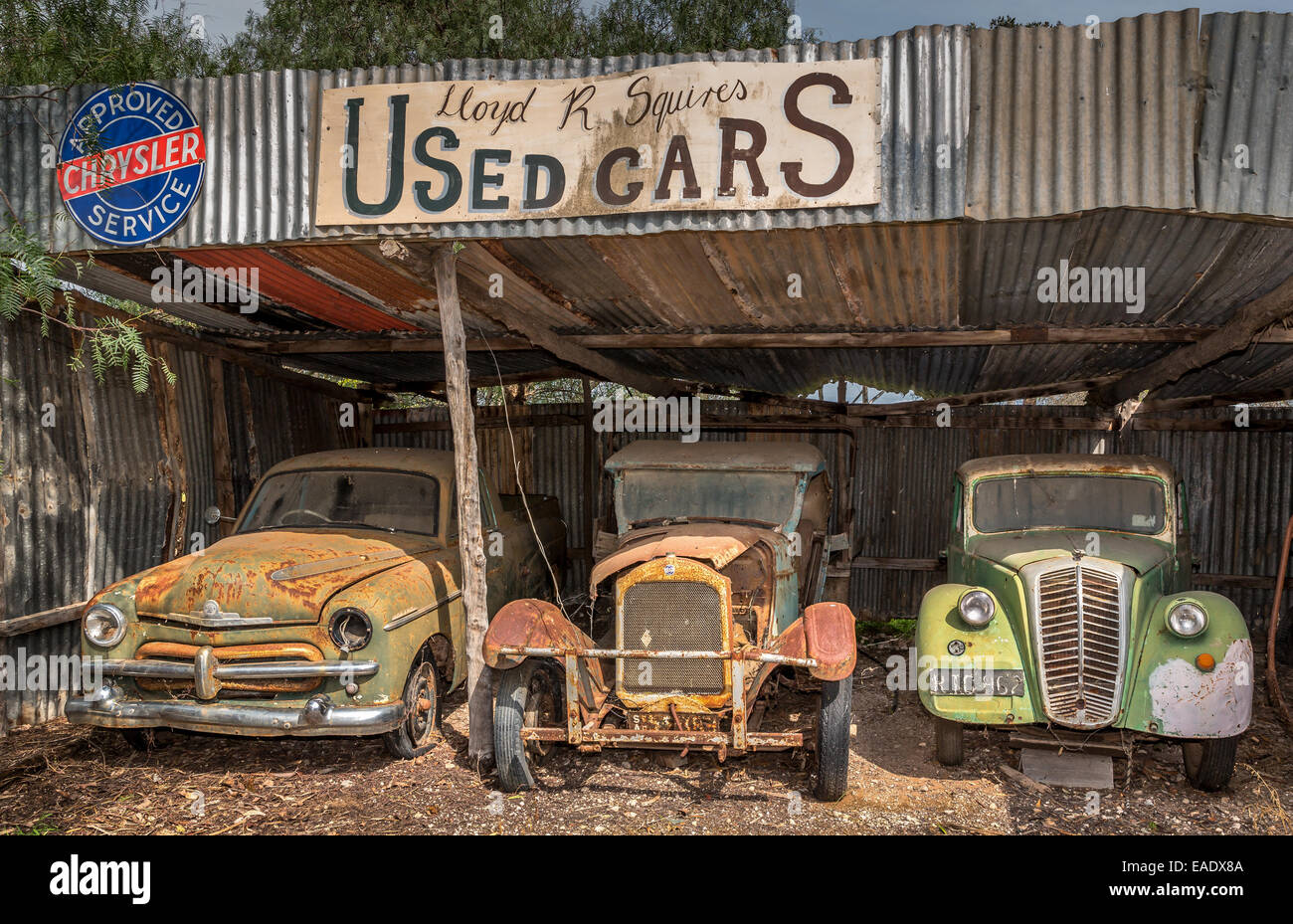 Vintage used cars store, Old Tailem Bend Pioneer Village, Southern ...