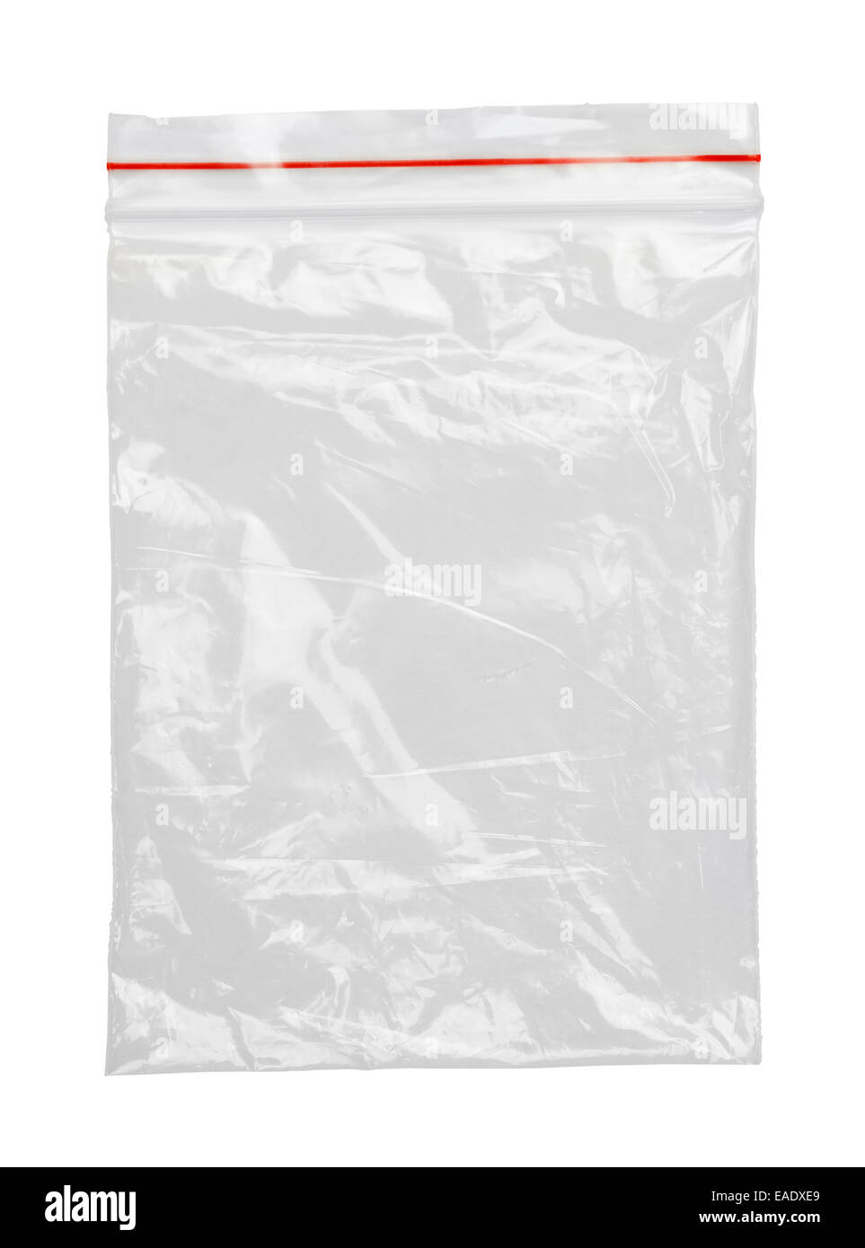 Clear Plastic Bag With Red Seal Isolated on White ...