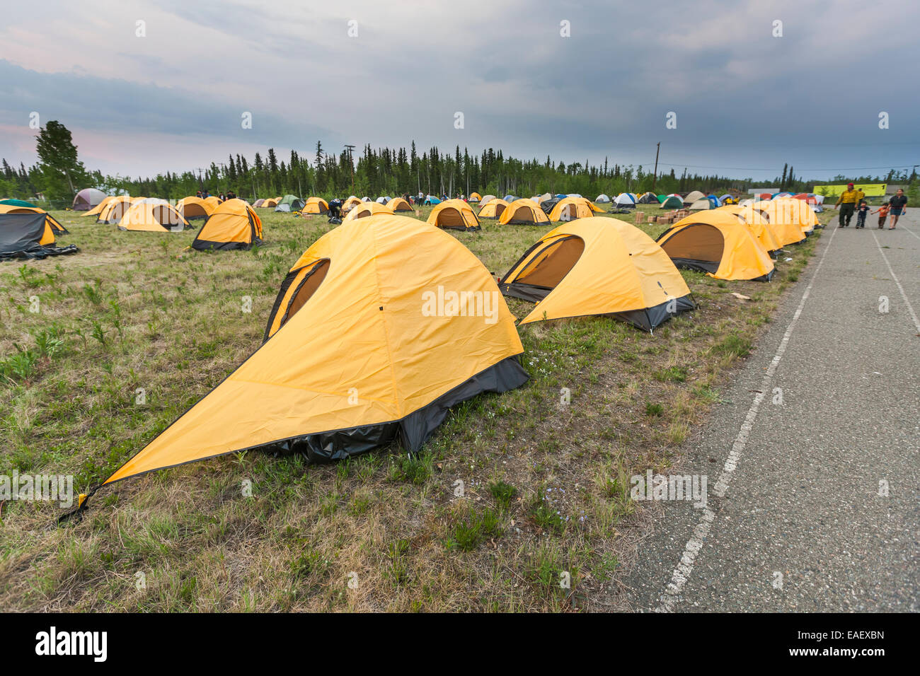 Tent c& for workers from the Interior Alaska Forest Fire Academy Eagle Trail forest fire near Tok Alaska May 2010 & Tent camp for workers from the Interior Alaska Forest Fire Academy ...
