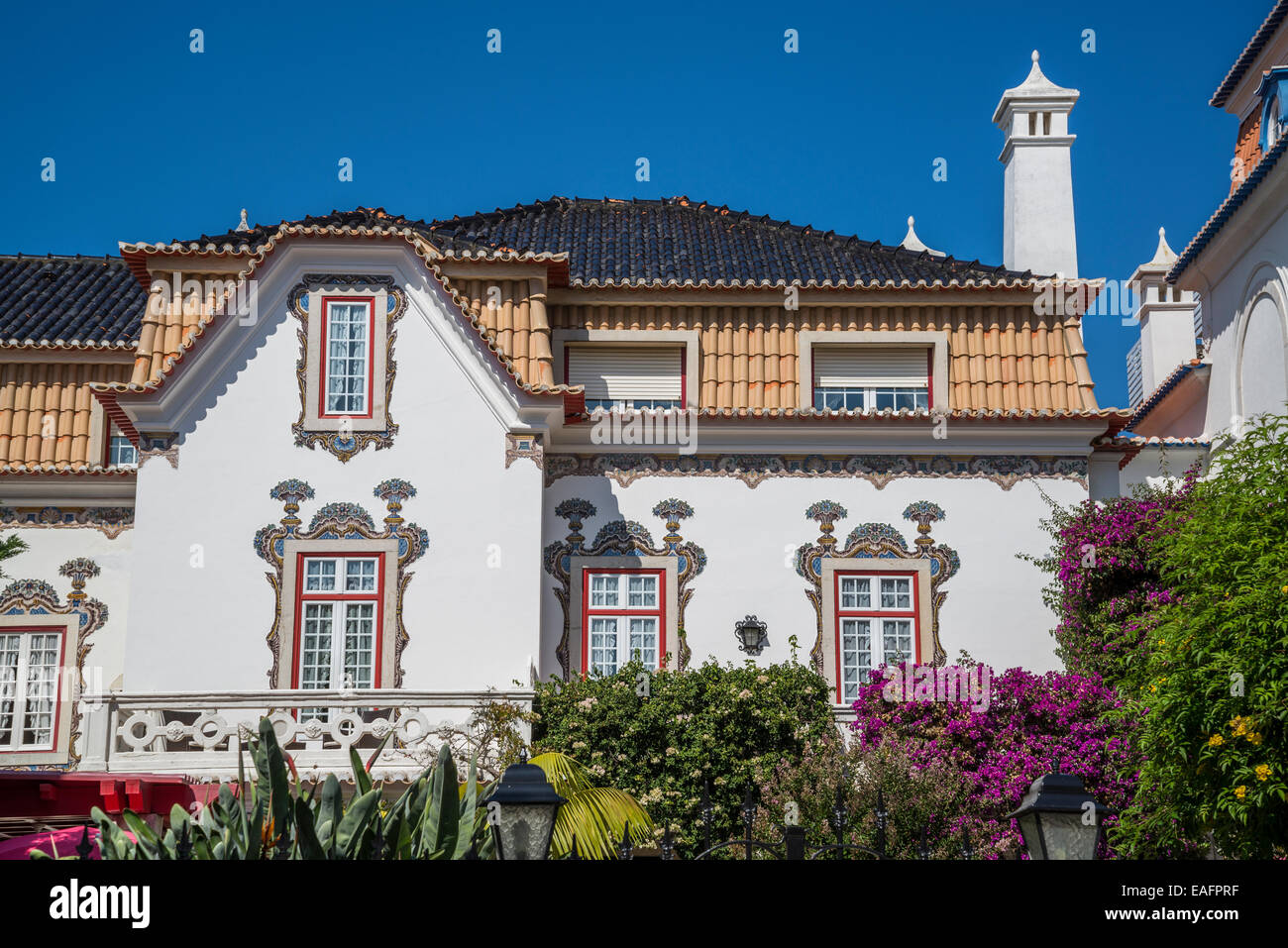 bed and breakfast 39 pergola house 39 cascais lisbon portugal stock photo royalty free image. Black Bedroom Furniture Sets. Home Design Ideas