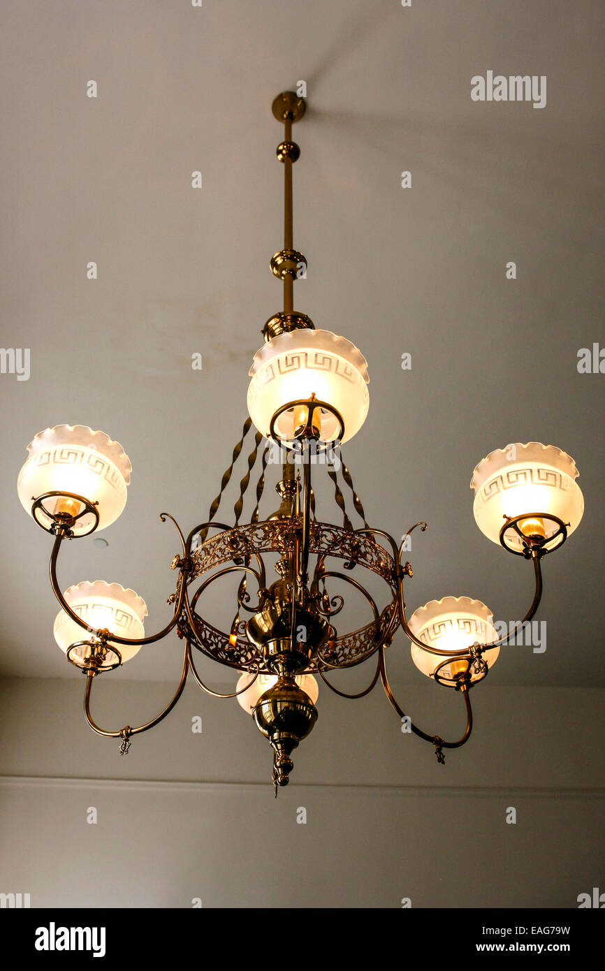 A six lantern chandelier hanging in the alabama state capitol stock photo royalty free image - Building a chandelier ...