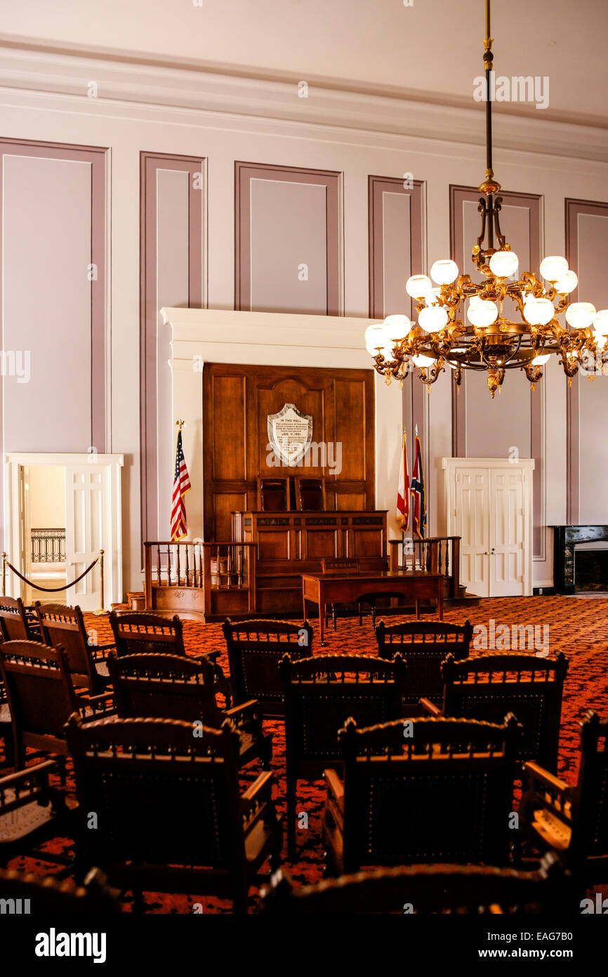 The Old Senate Chamber Inside The Alabama State Capitol Building In Stock Photo Royalty Free