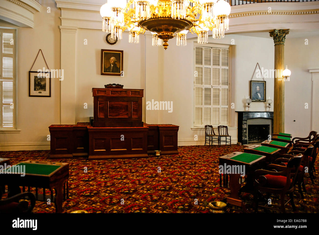 The Old House Chamber Inside The Alabama State Capitol