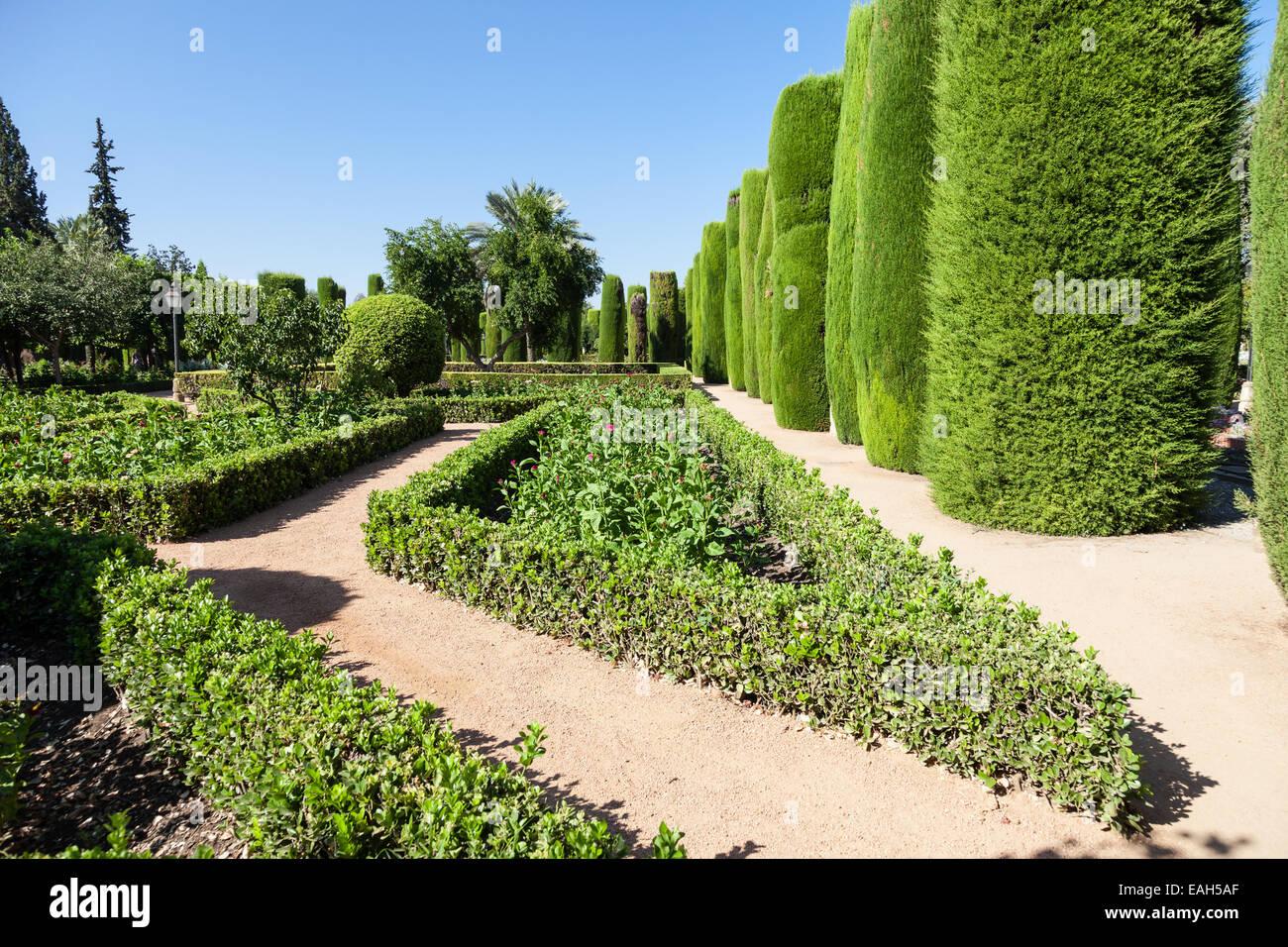 Example Of Italian Garden Design During Spring Season
