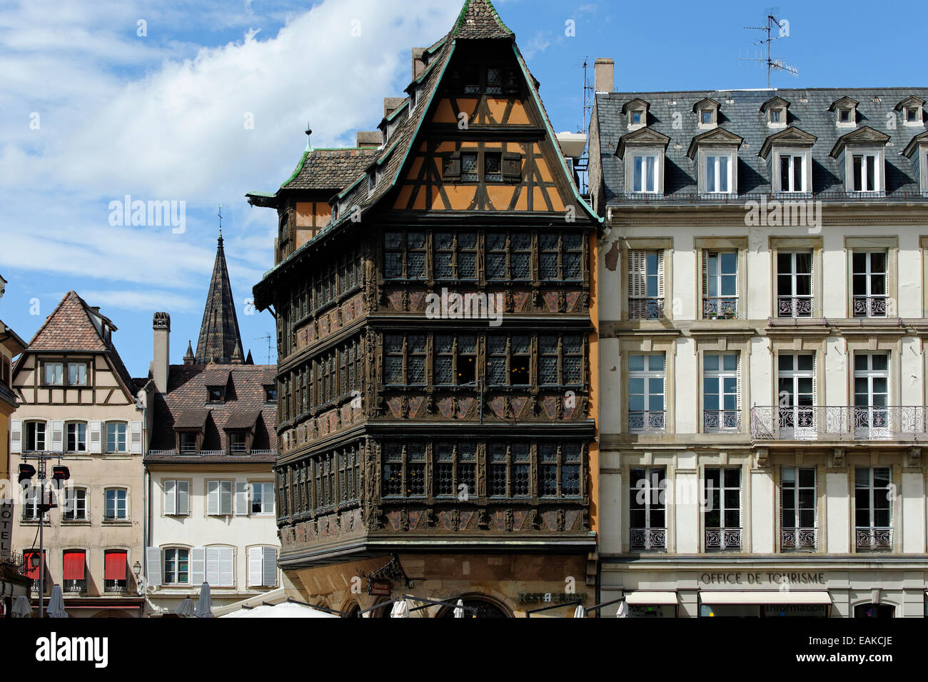 maison kammerzell building on place de la cathedrale square stock photo royalty free image. Black Bedroom Furniture Sets. Home Design Ideas