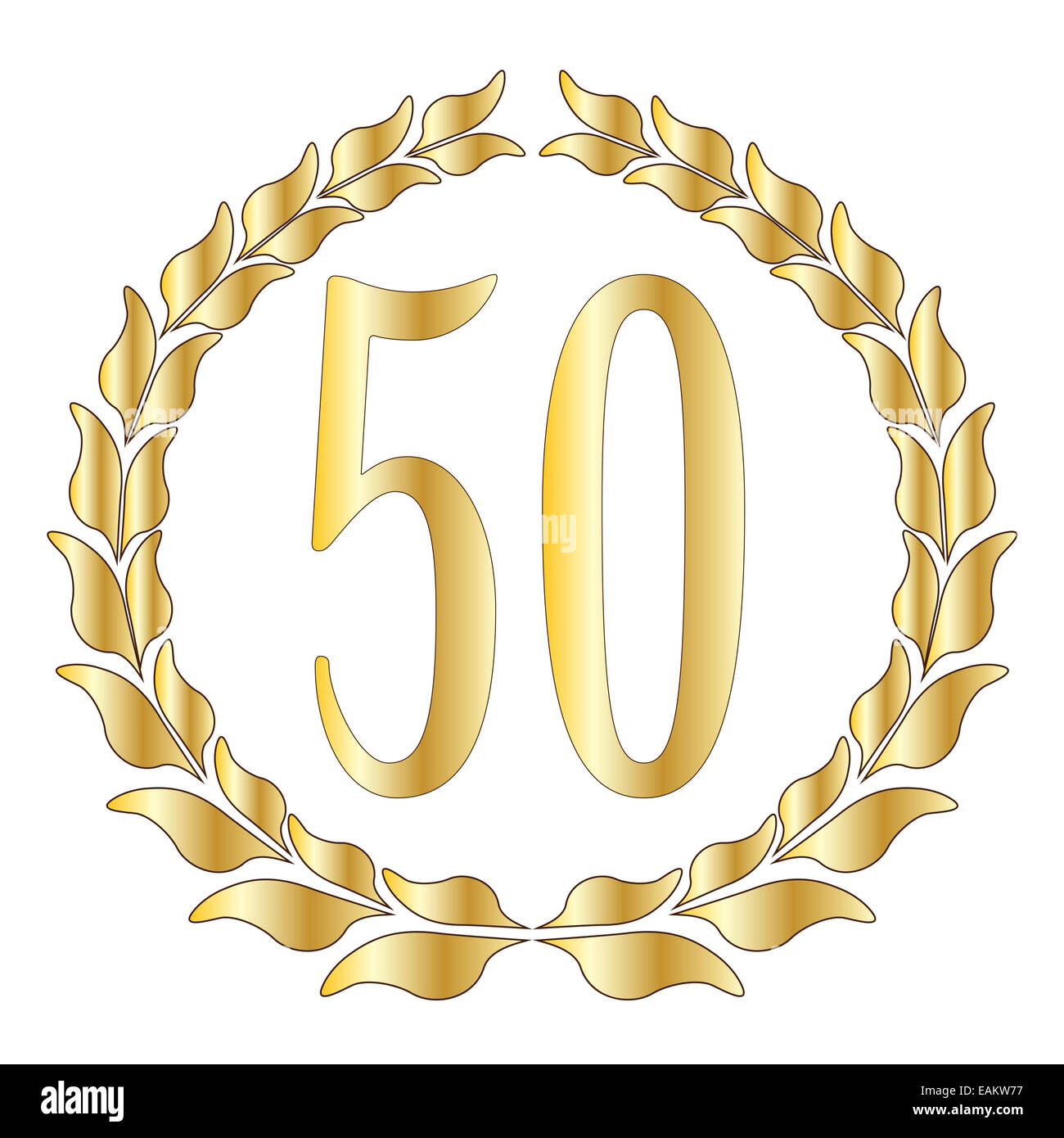 A 50th anniversary symbol over a white background stock photo royalty free image 75424923 alamy - Th anniversary symbol ...