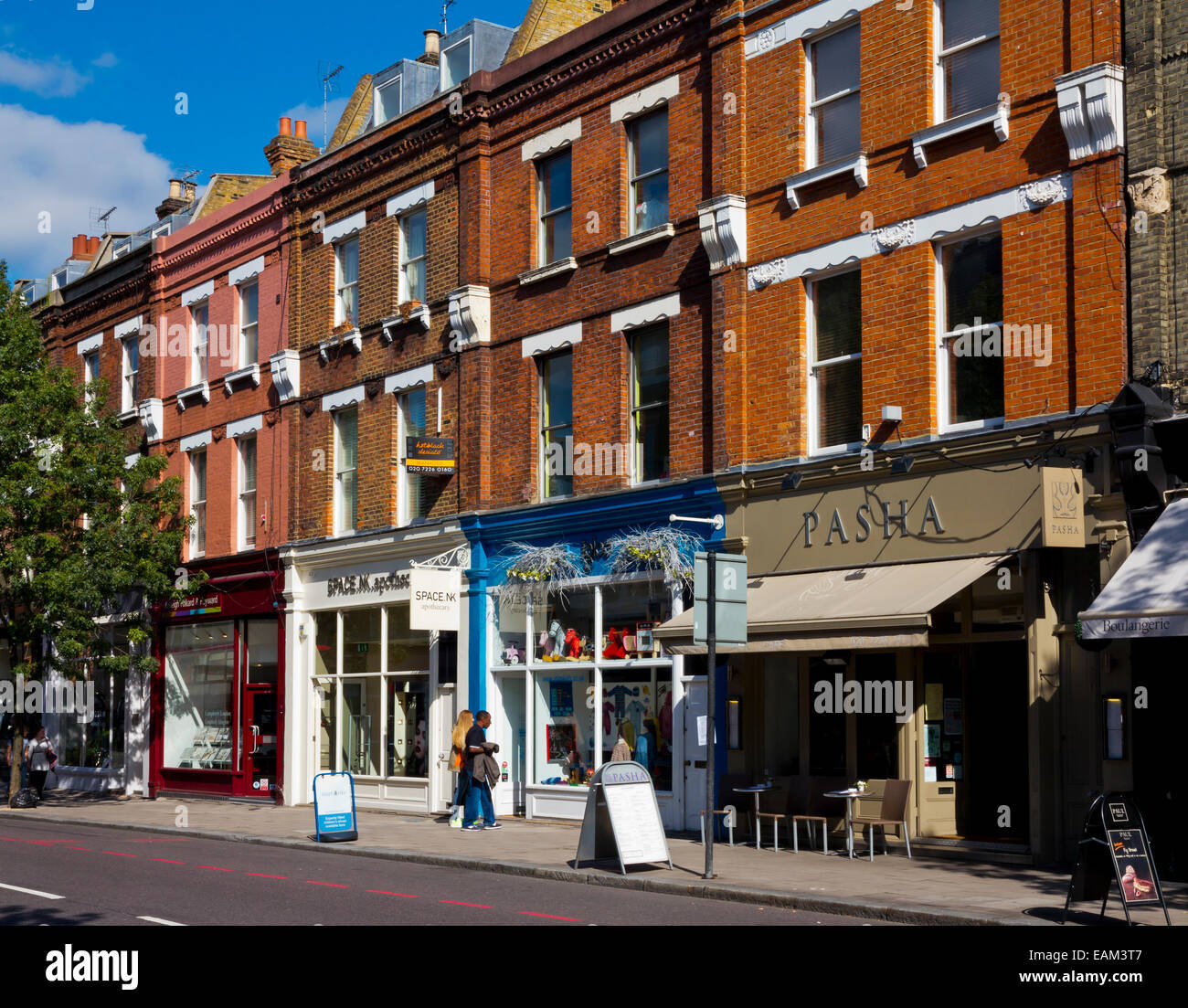 Shops With Flats Above On Upper Street In Islington London