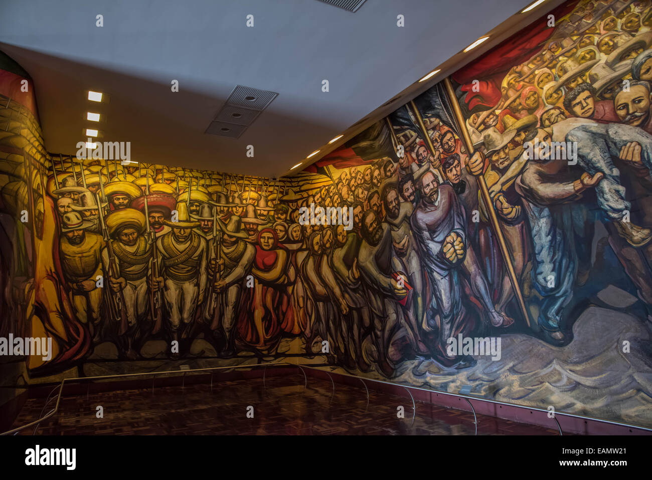 giant mural by mexican artist david alfaro siqueiros