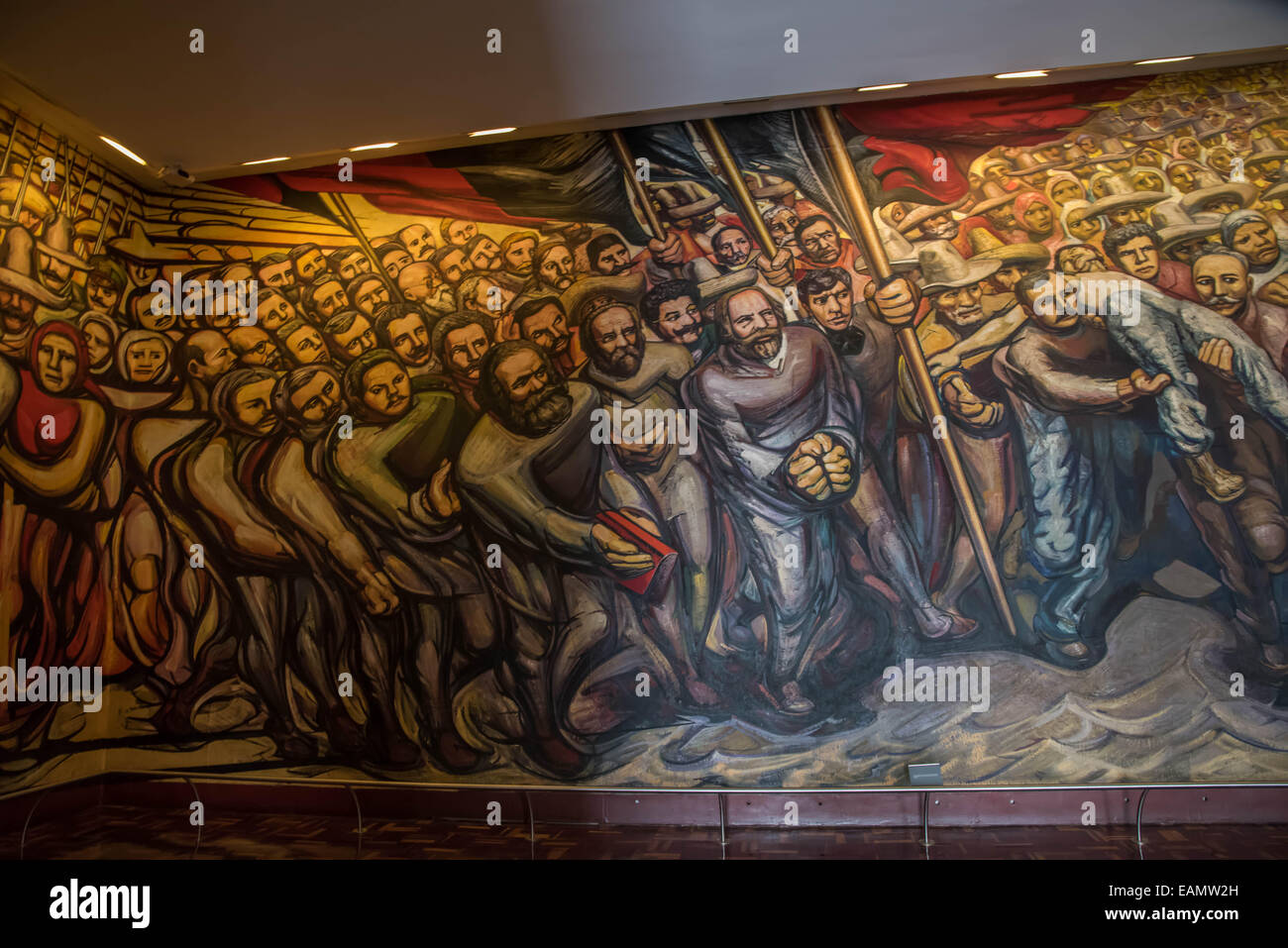 Giant mural by mexican artist david alfaro siqueiros for Mural siqueiros