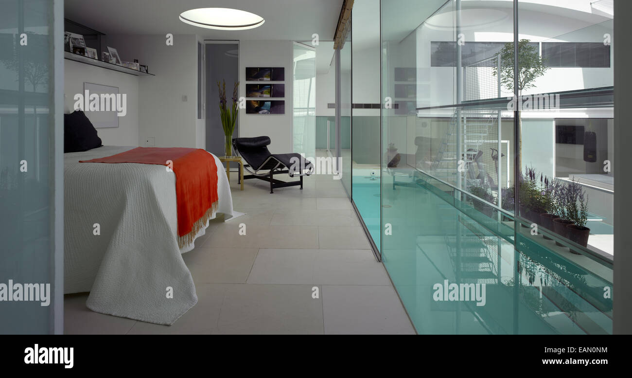 Bedroom with access to indoor lap pool, Lavender House, Hampstead ...