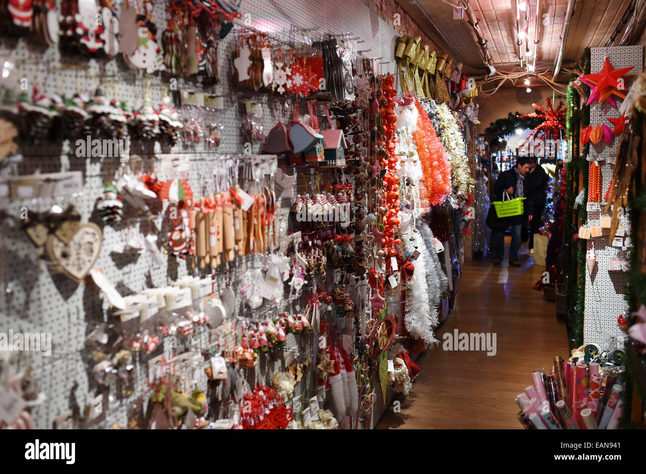 17th Nov, 2014 Christmas Ornaments In The Sale's Room At