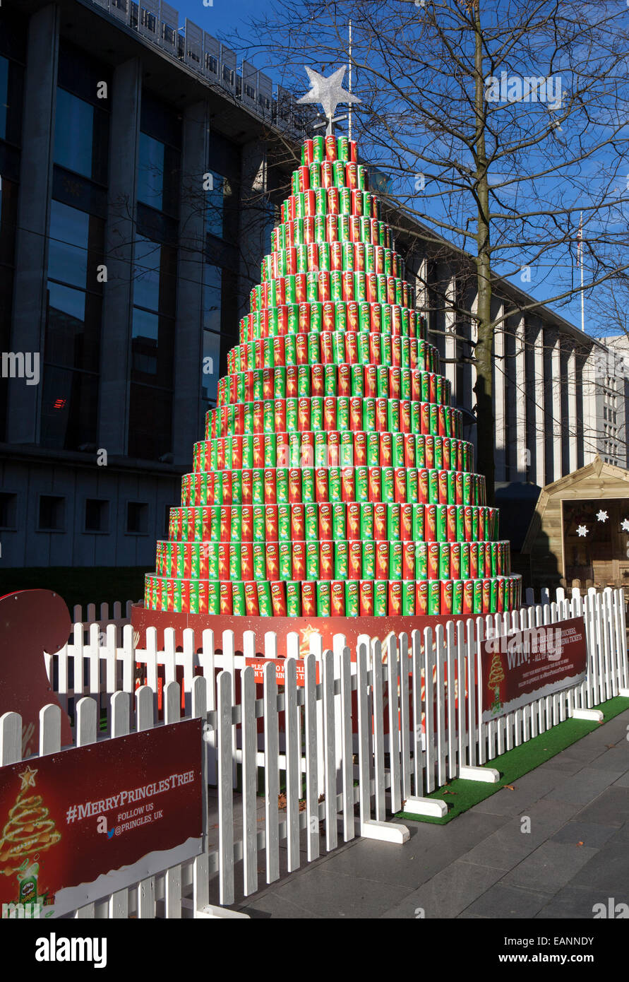 The Pringles Crisps Pyramid Tower