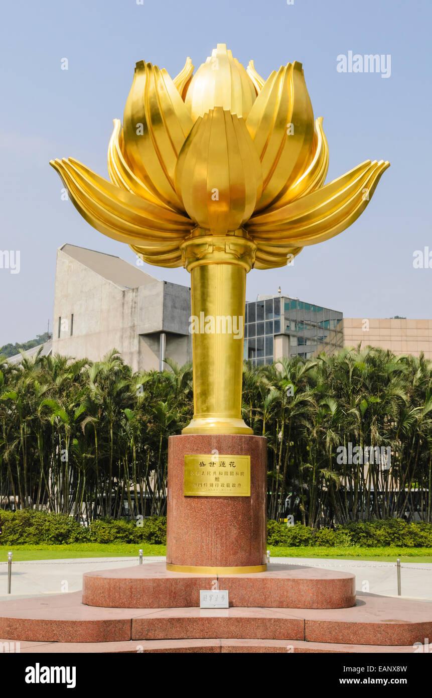 Lotus flower china stock photos lotus flower china stock images golden lotus flower in lotus square macau china stock image dhlflorist Choice Image