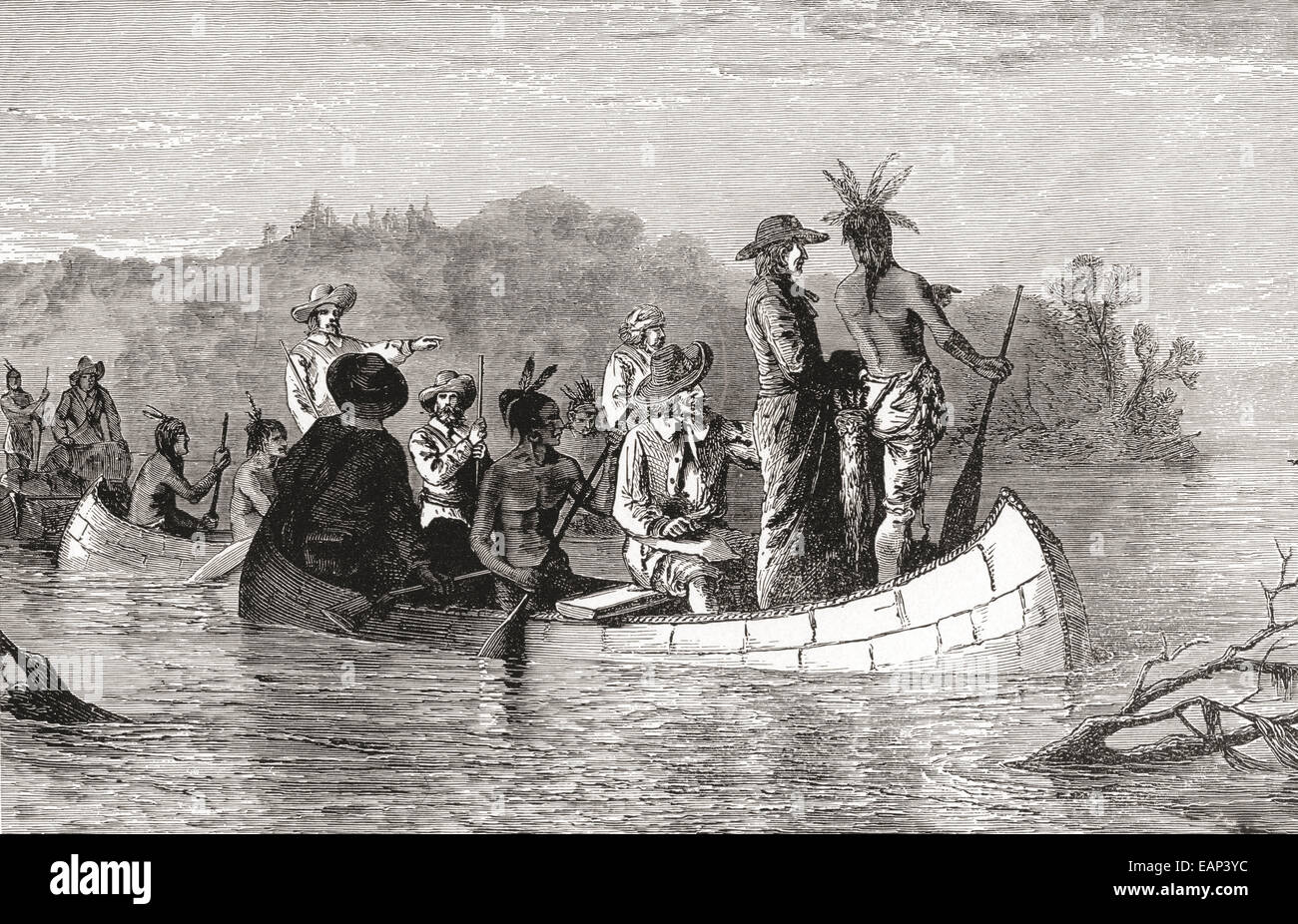 the joliet marquette expedition discover the mississippi in 1673 louis jolliet aka louis joliet