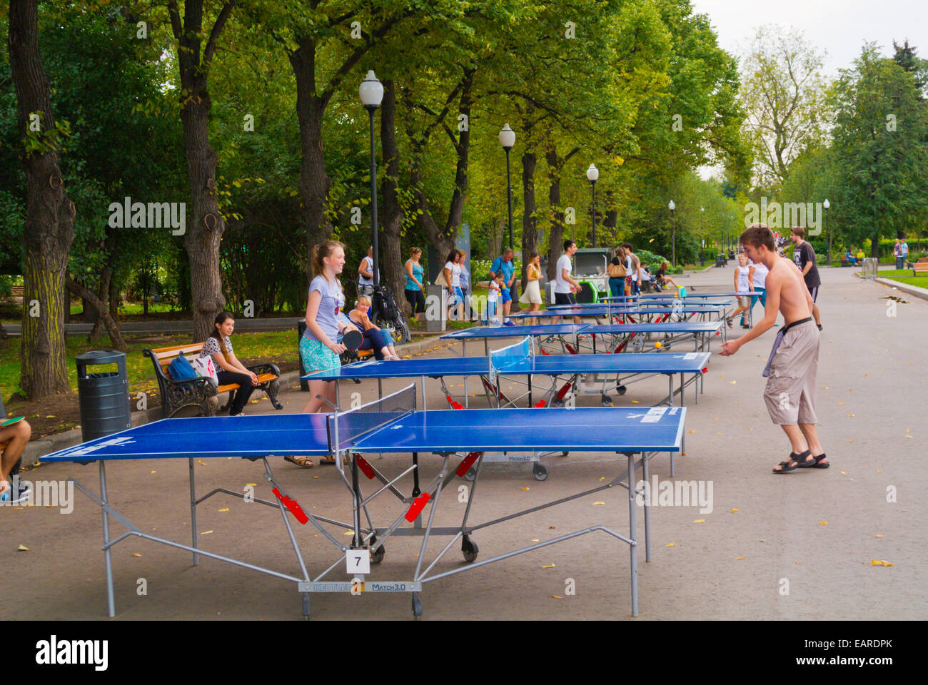 Ping pong table tennis gorky park moscow russia for Table moscow
