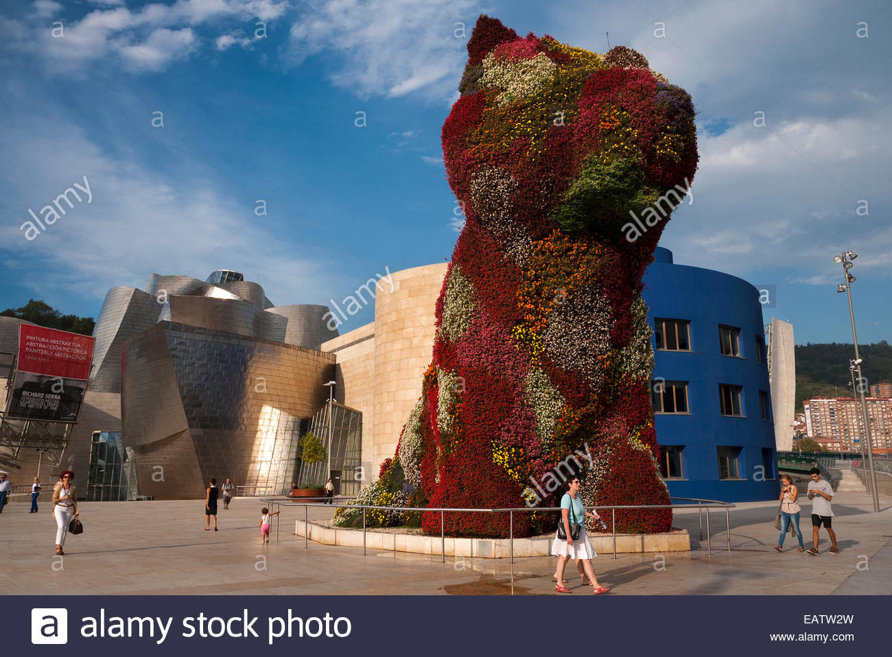 Coloring book by jeff koons - Puppy The Dog Topiary Sculpture By Jeff Koons Outside The Guggenheim Museum Bilbao