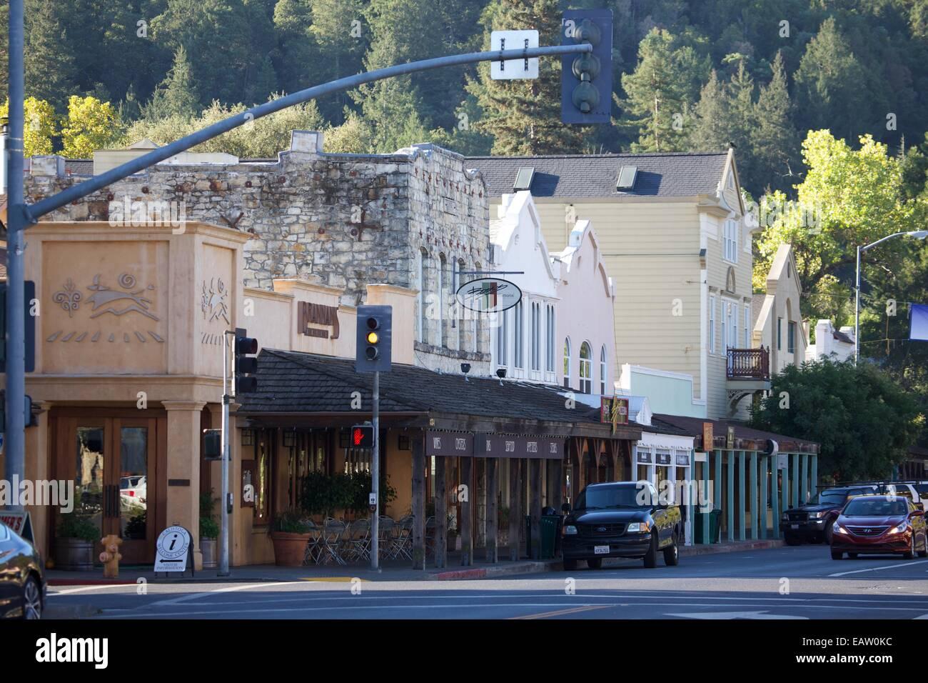 Downtown Calistoga California Home To Restaurants