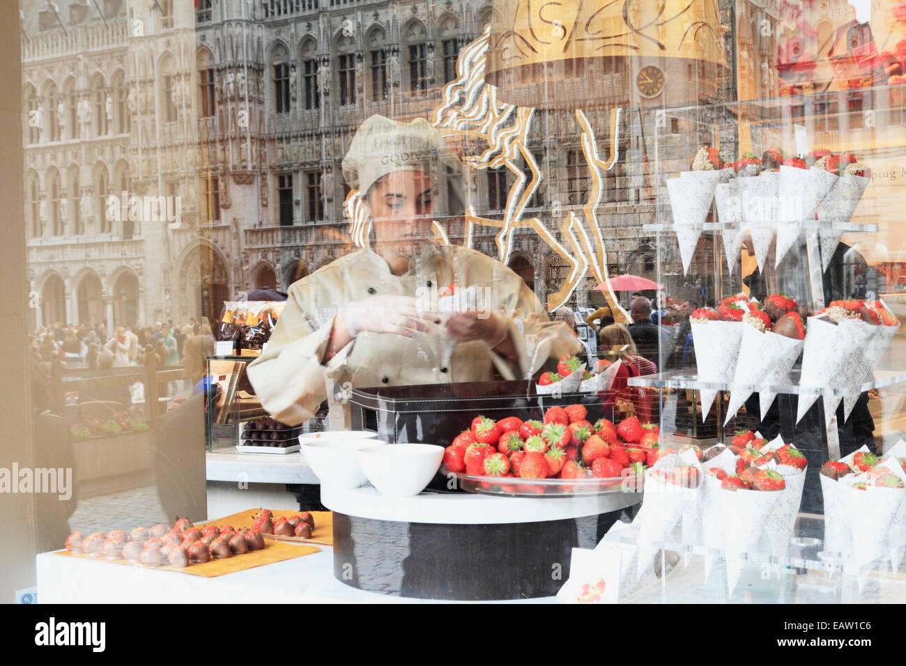 Belgium, Brussels, Godiva Chocolate Shop, Avenue Louise, Easter ...