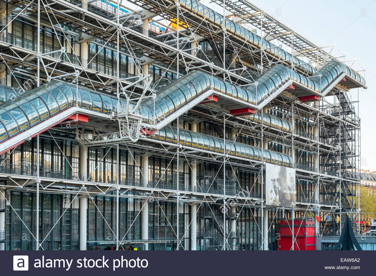 facade of centre georges pompidou modern museum stock photo royalty free image