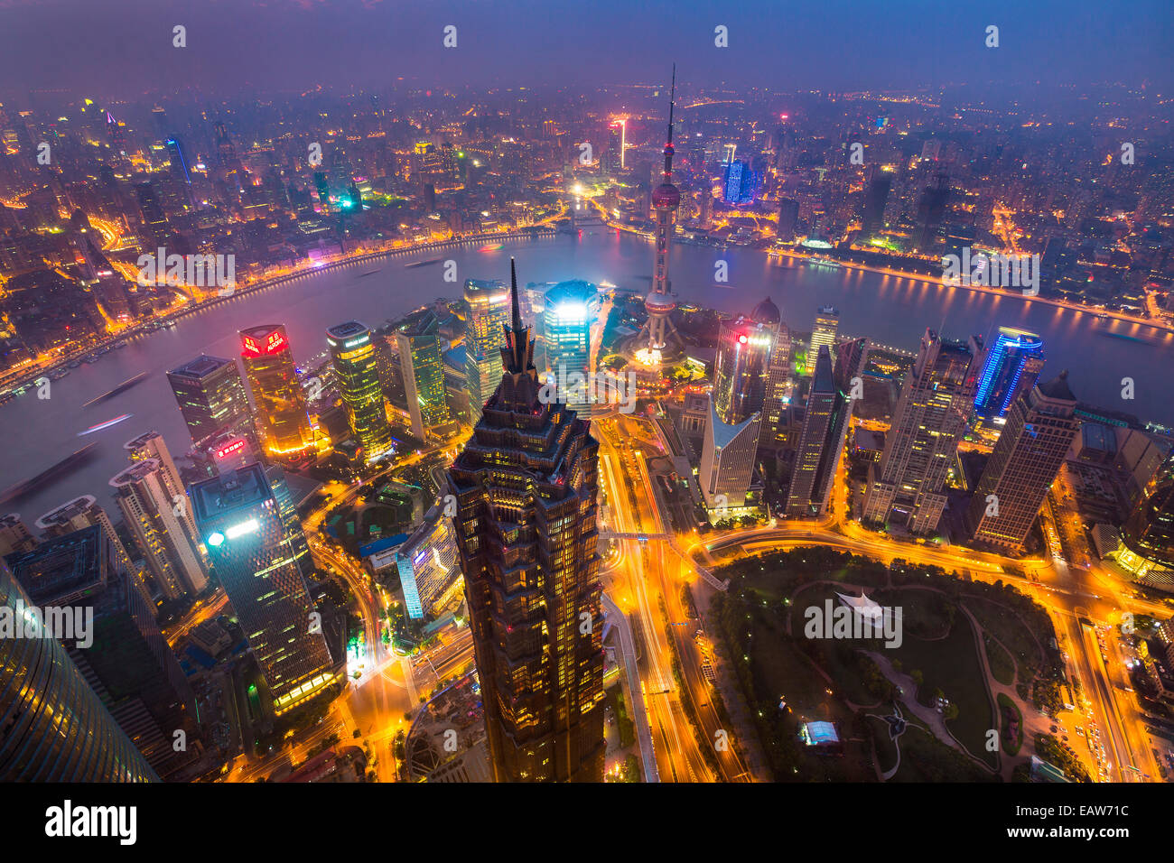View from SWFC (Shanghai World Financial Center ...