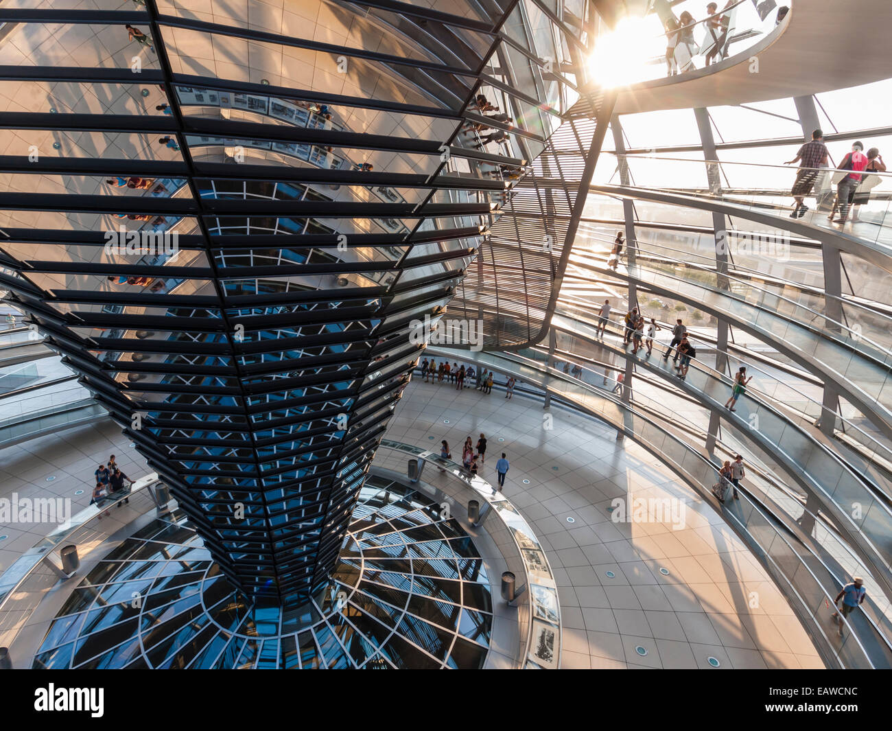 Glass dome on top of berlin reichstag the german house of parliament designed by architect sir norman foster