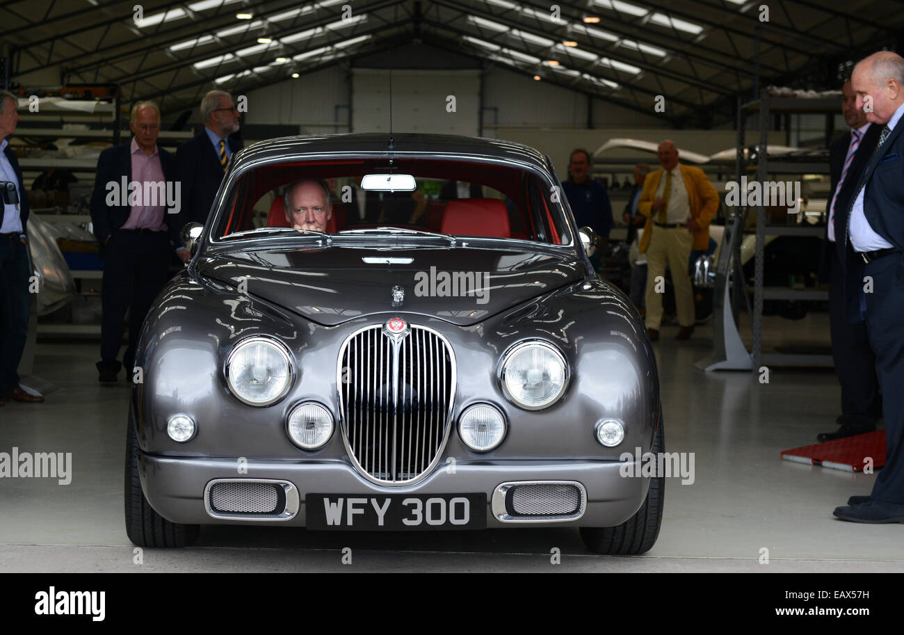 Ian Callum (Director of Design at Jaguar Cars) drives off in the ...