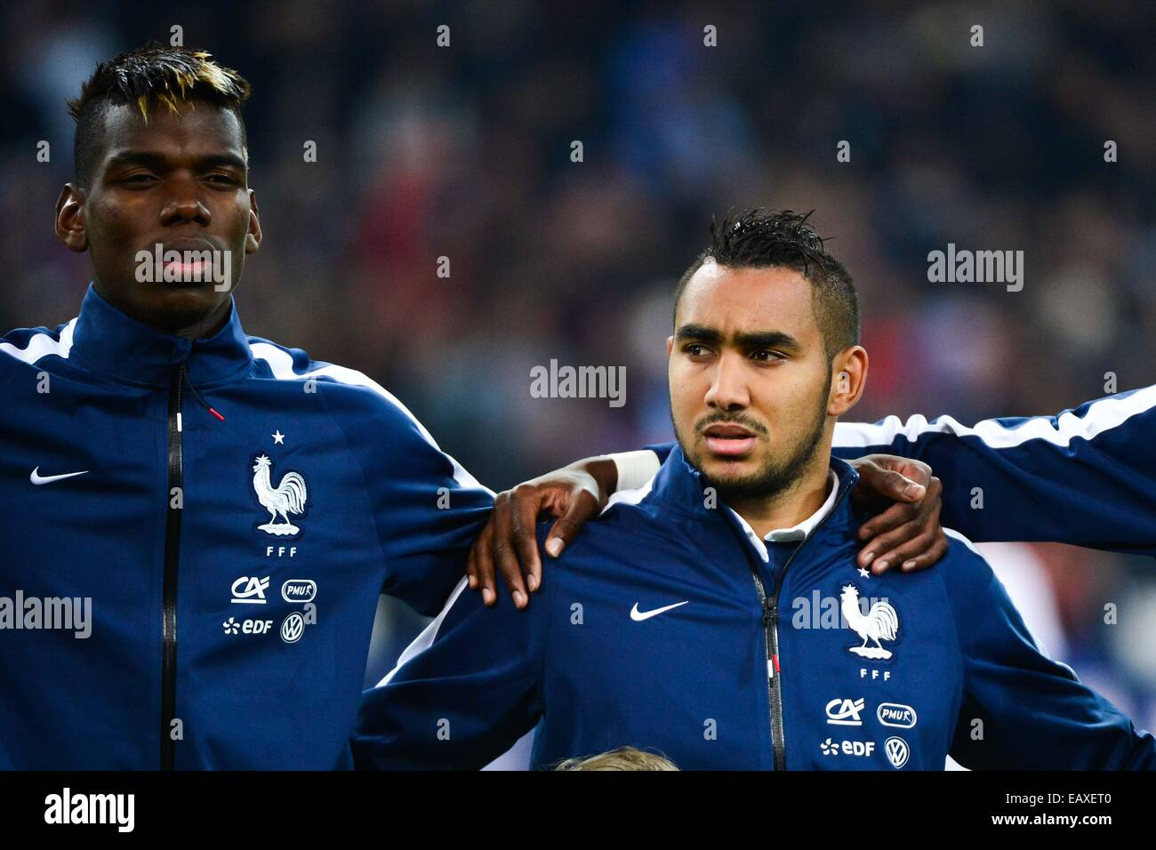 paul pogba dimitri payet france suede match stock photo royalty free image. Black Bedroom Furniture Sets. Home Design Ideas