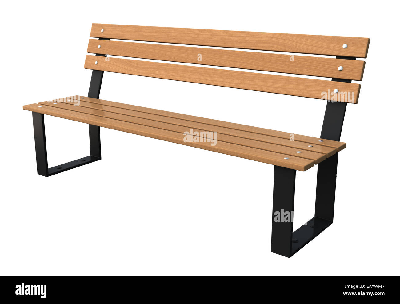 3d Render Of Garden Bench Isolated Over White Background